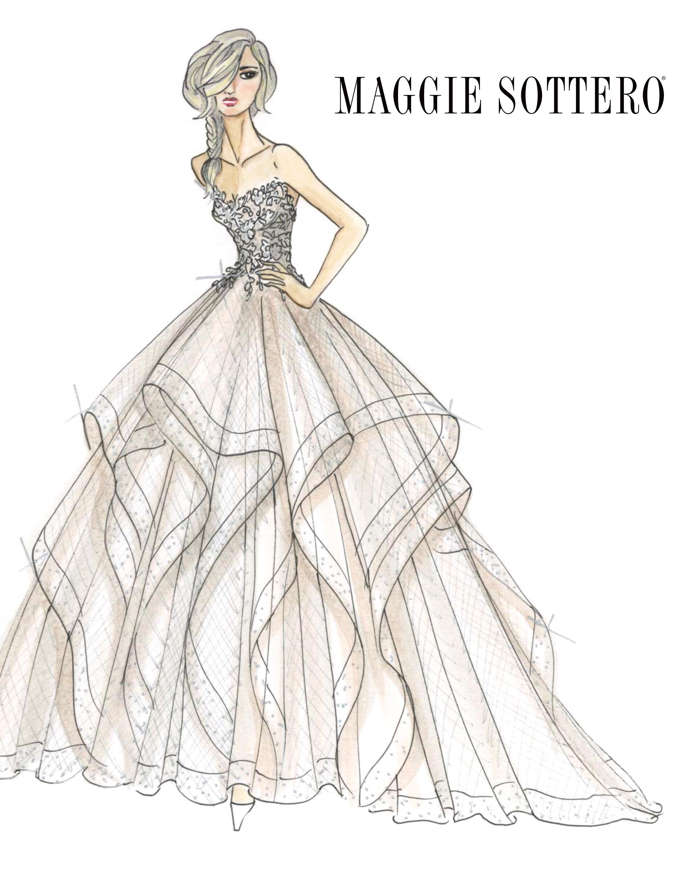 bridal fashion week sketches fall 2019 maggie sottero