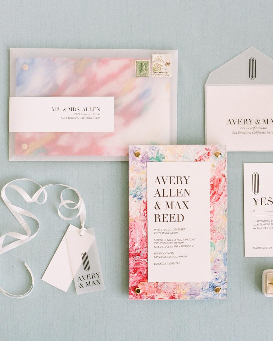 vellum envelopes for pink response cards