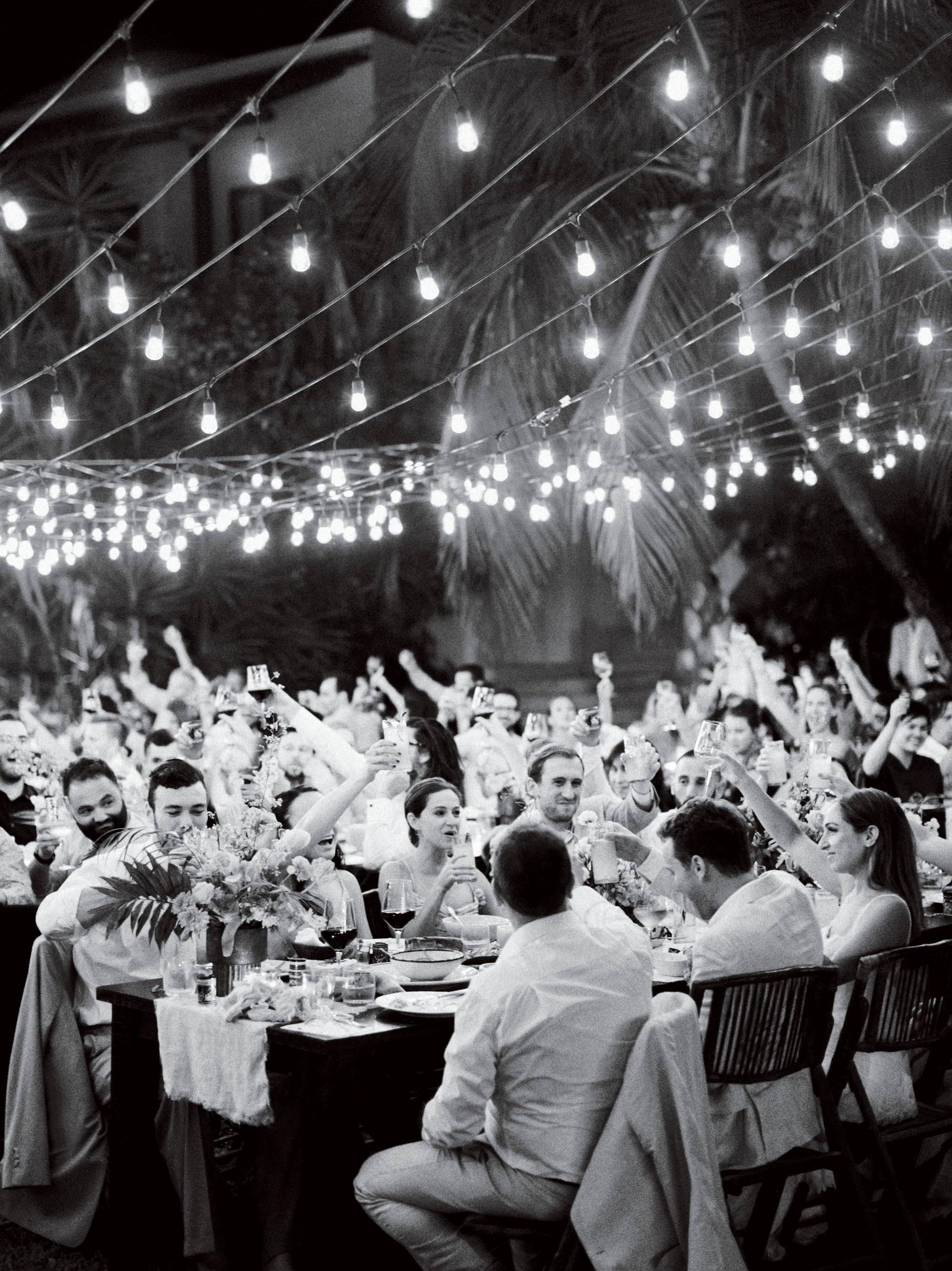 ariel trevor wedding tulum mexico guest toast