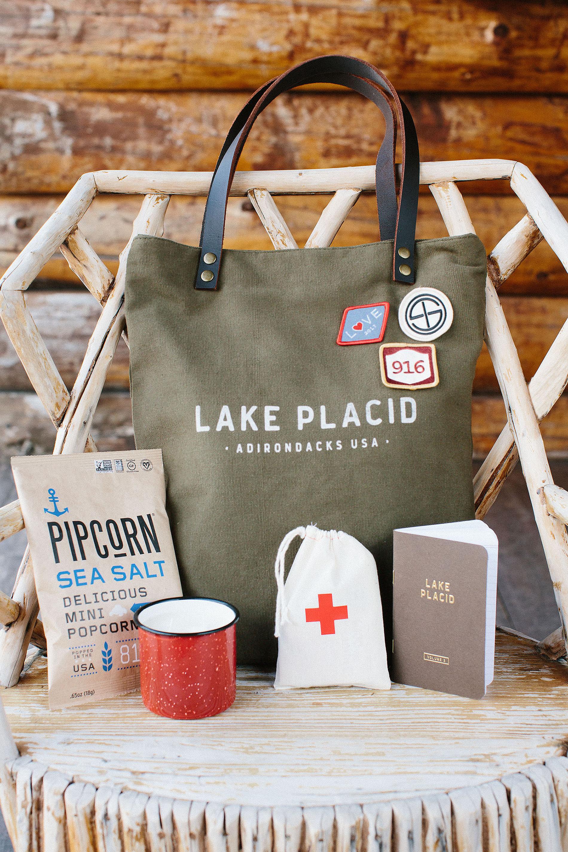tory sean wedding lake placid new york welcome bag