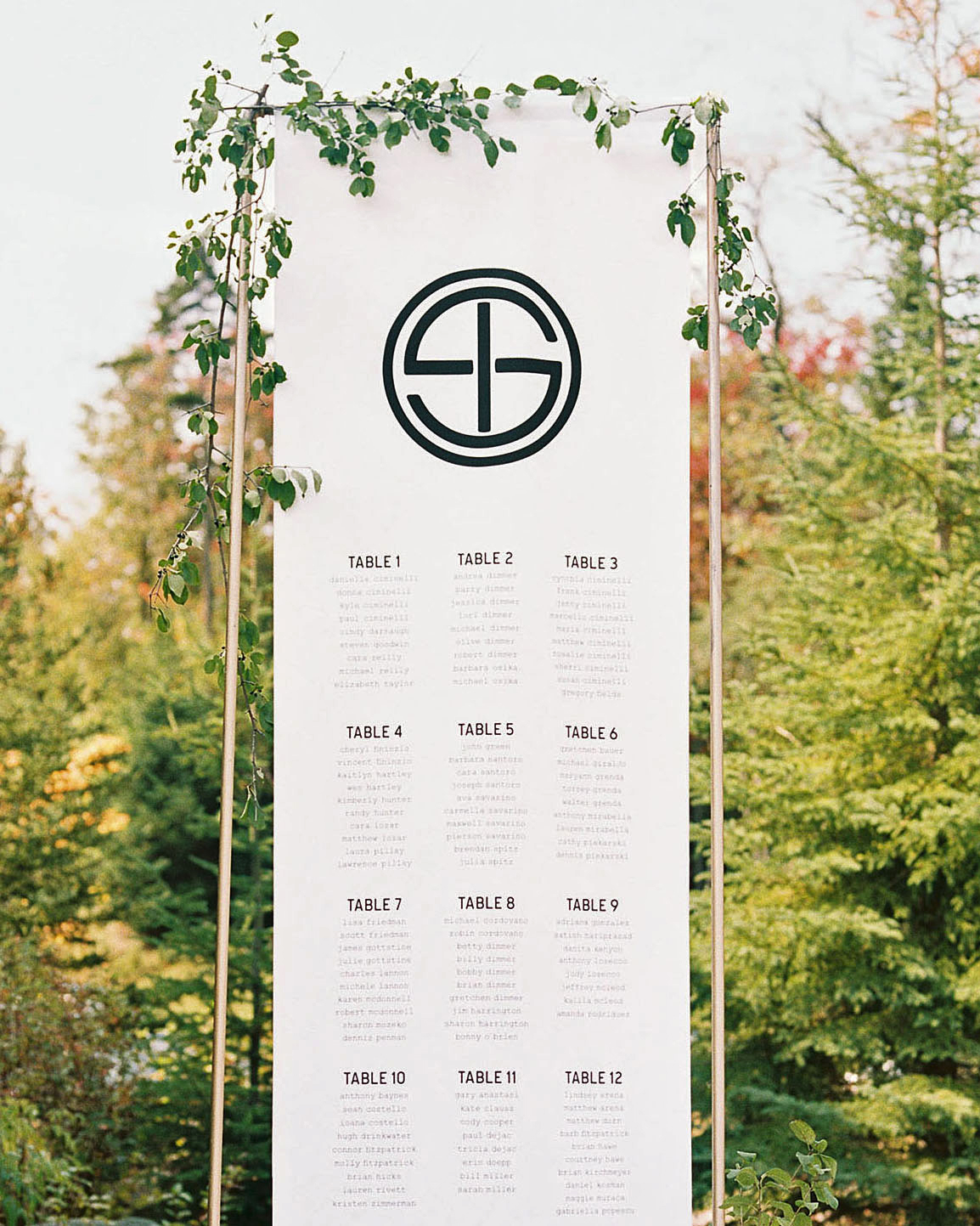 tory sean wedding lake placid new york seating chart
