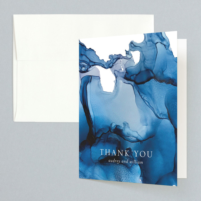 thank you notes minted blue tides