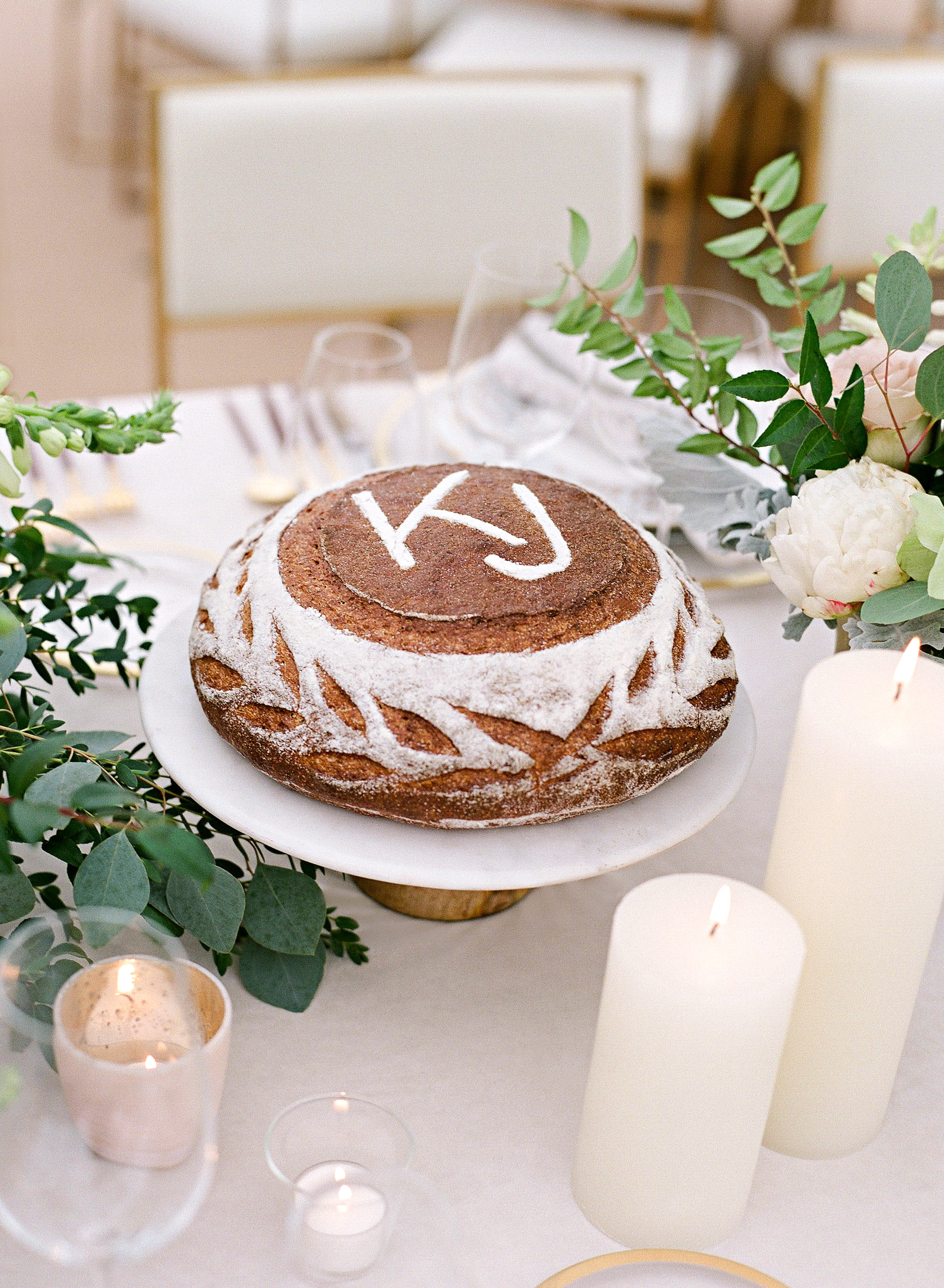kelsey joc wedding santa barbara california monogrammed cake