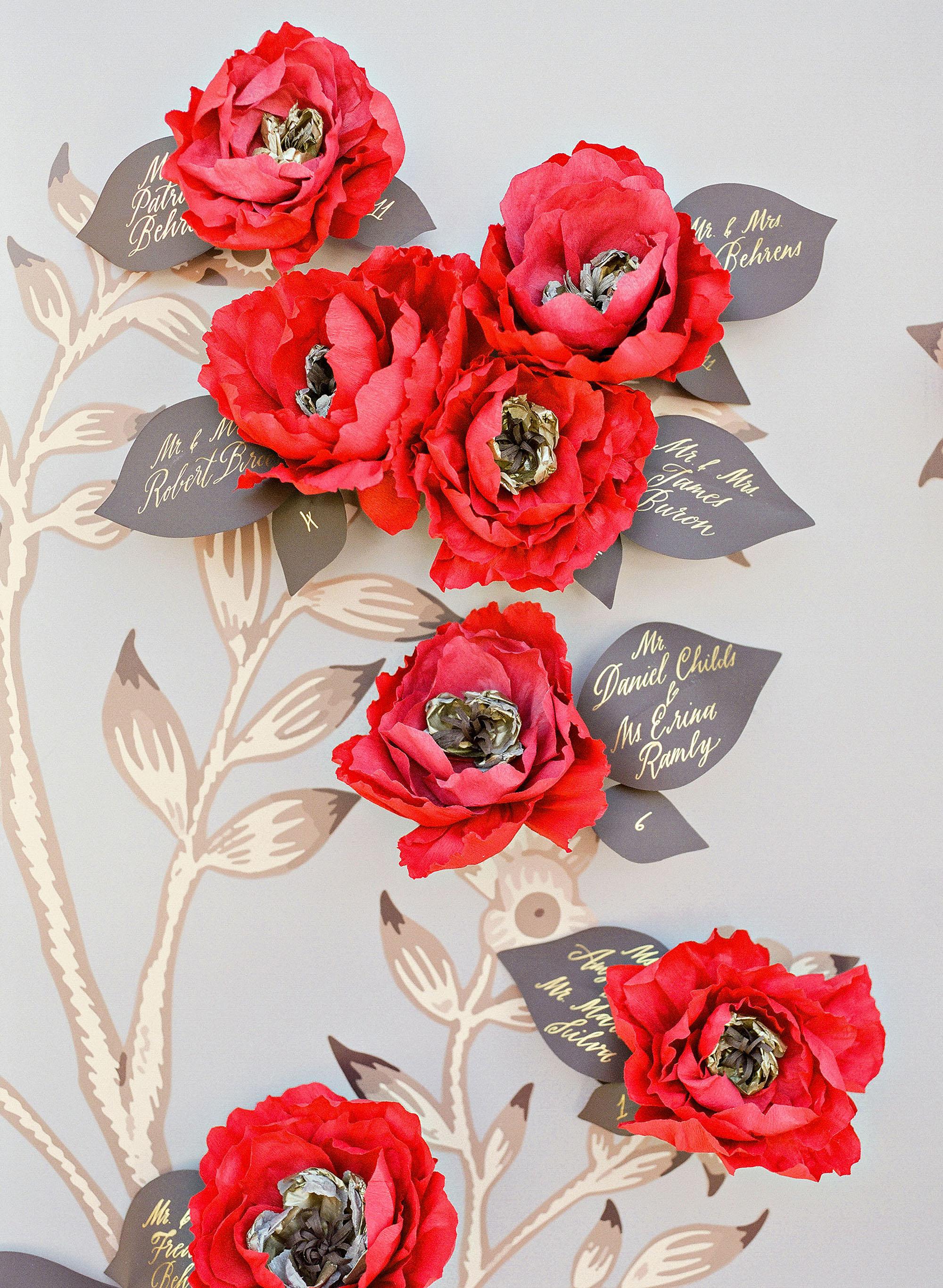 jenna alok wedding wine country california floral escort cards