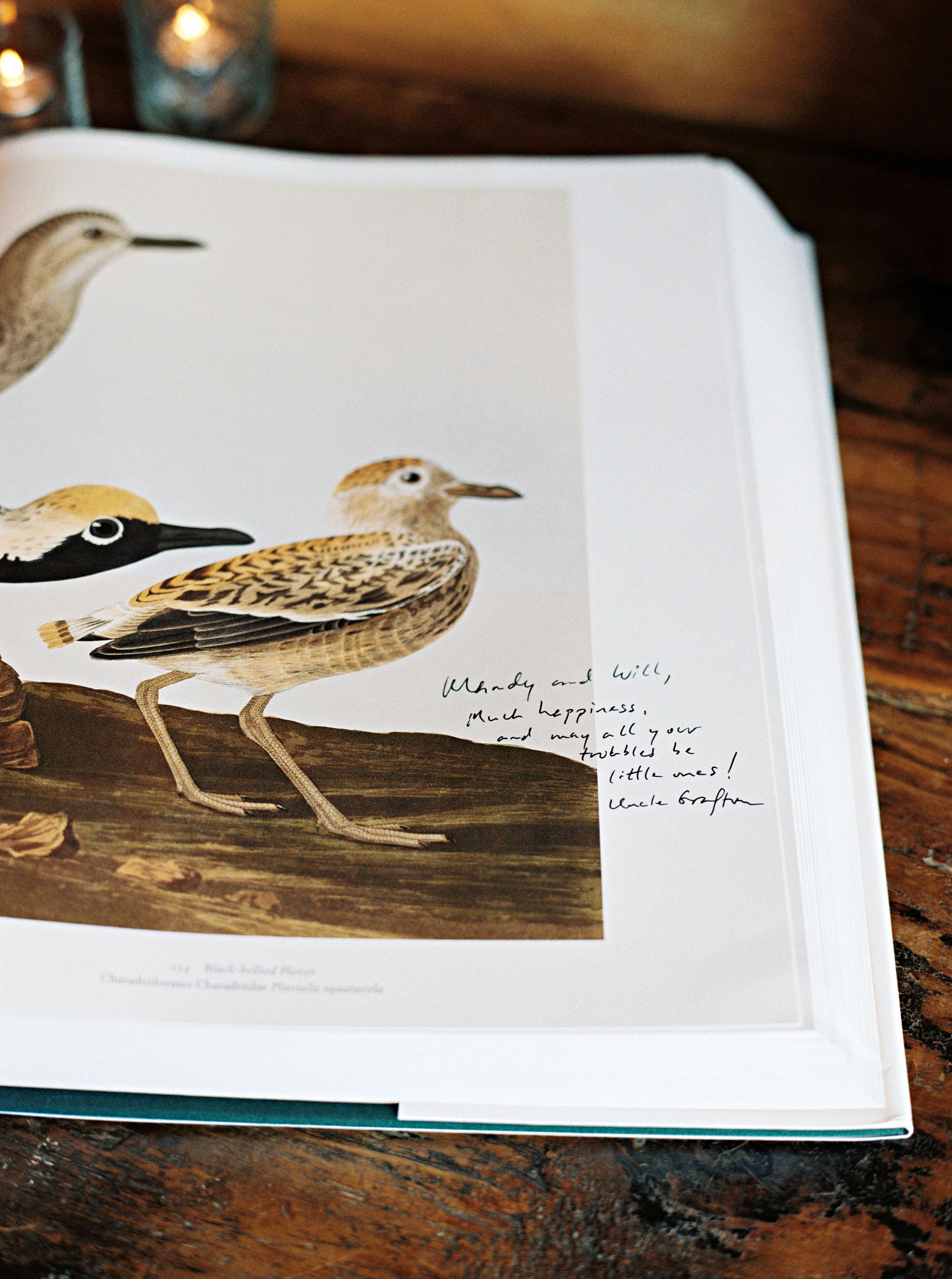 amanda william wedding tennessee audubon guest book