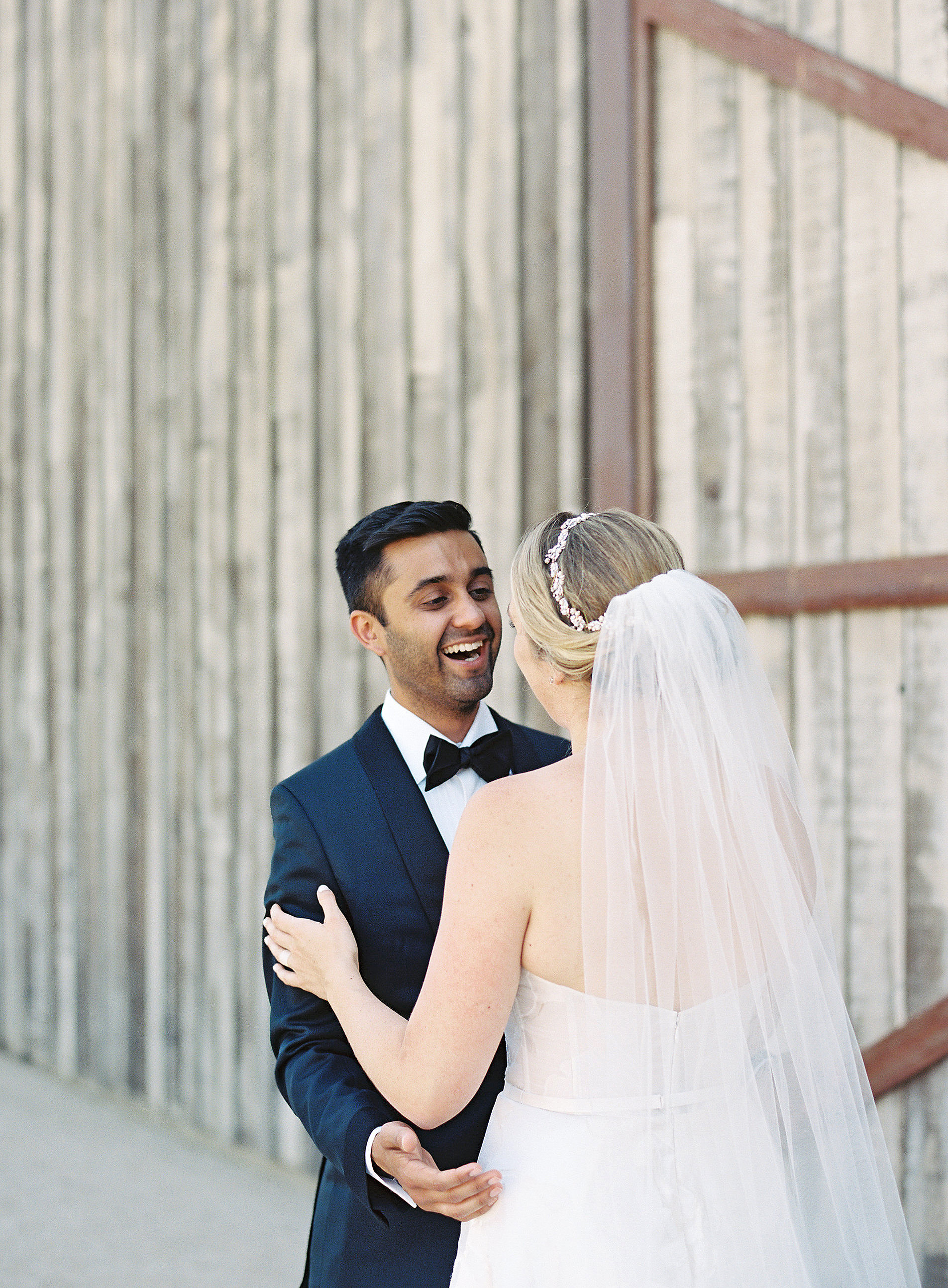 emily siddartha wedding firstlook bride groom