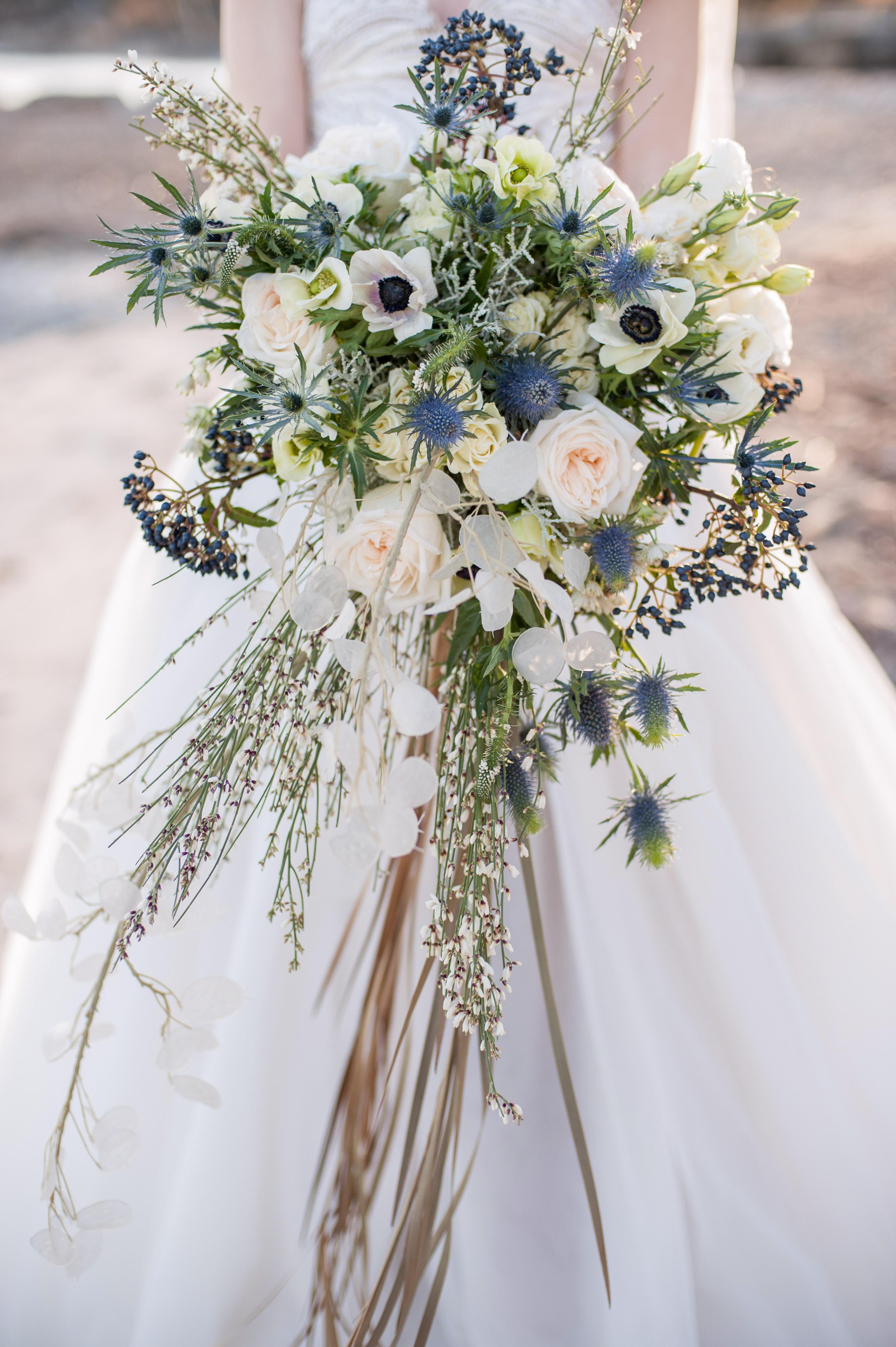 blue bouquet krista fox d&dfloraldesigns