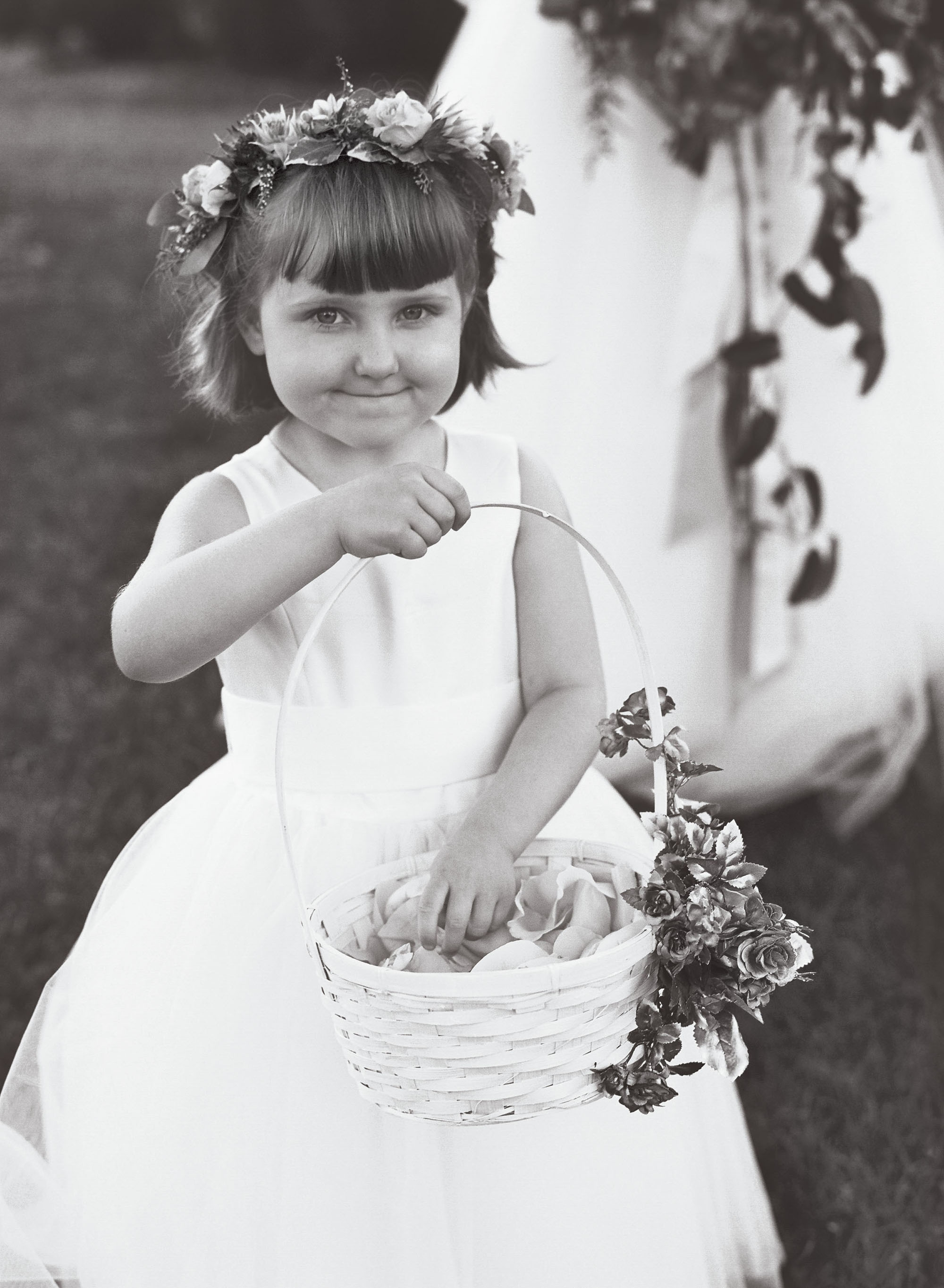 emer cooper wedding wisconsin flower girl