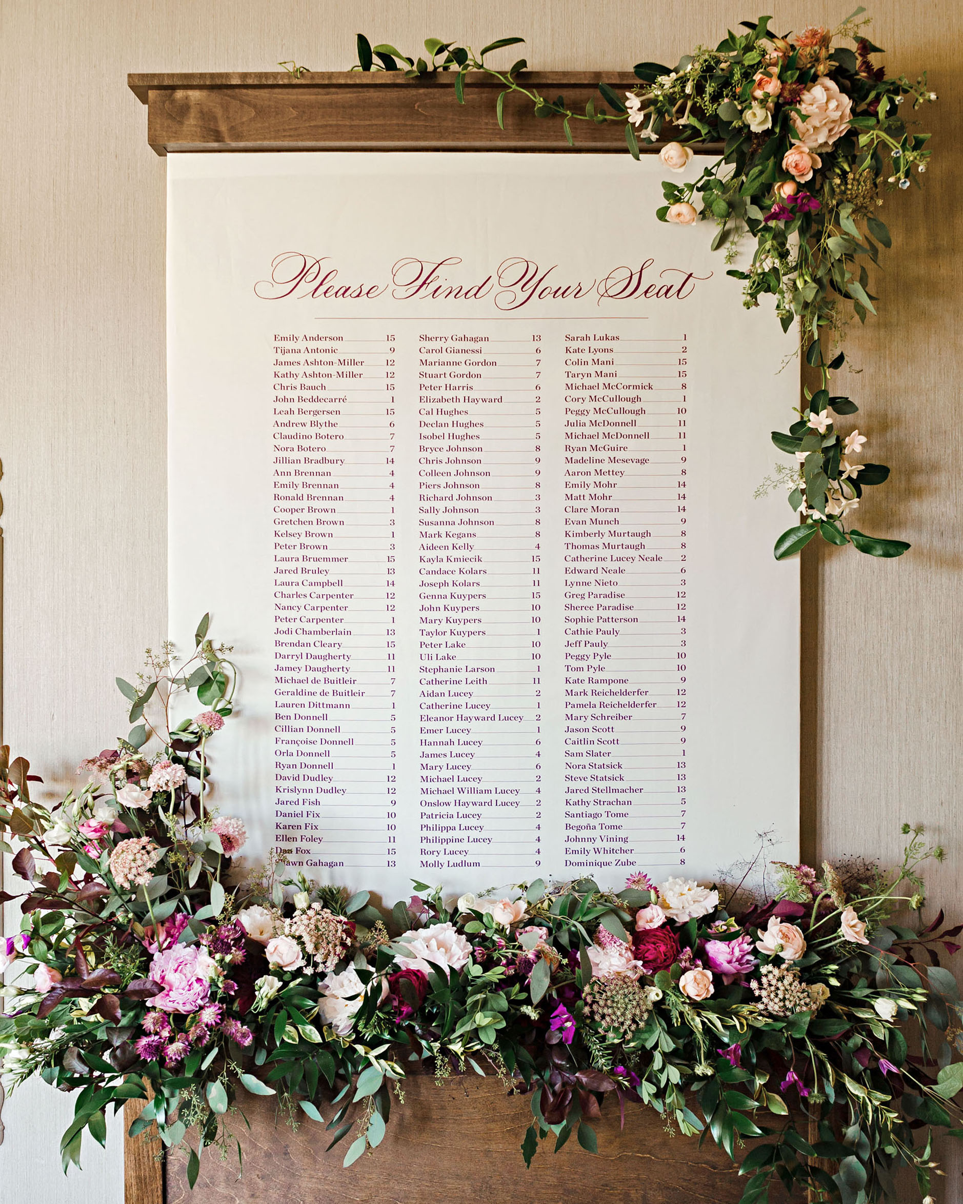 emer cooper wedding wisconsin seating chart