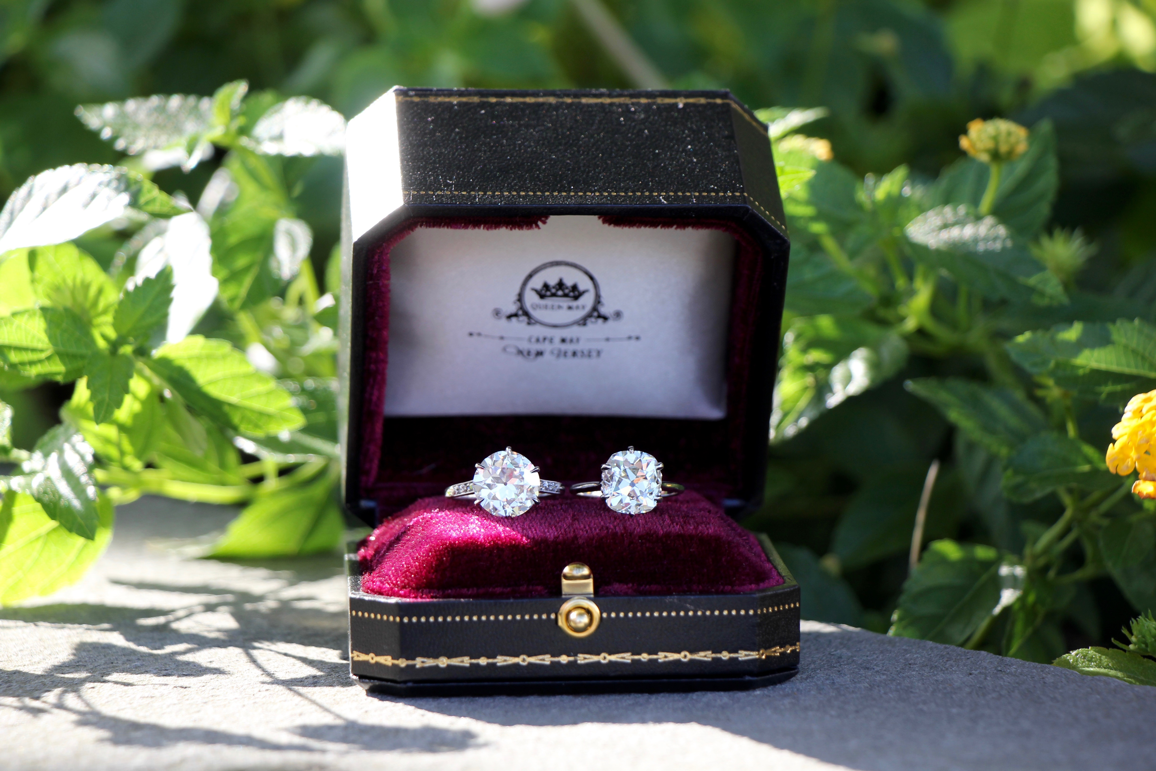 old mine and old european engagement rings