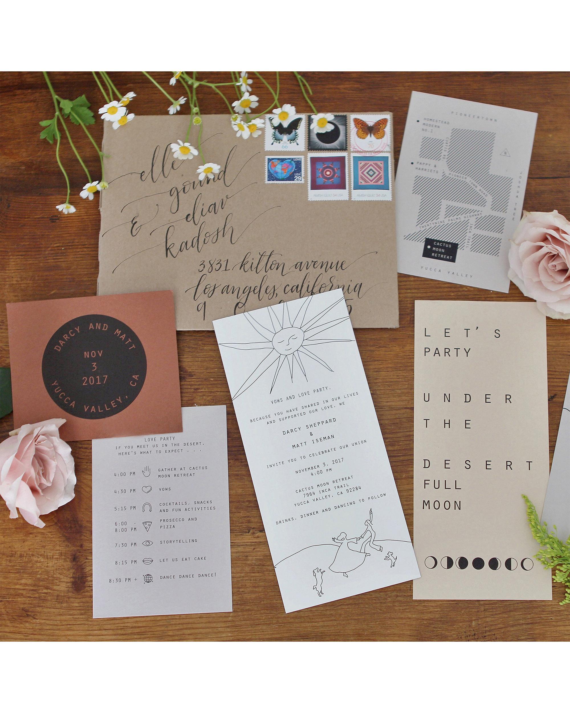 darcy matt wedding invitation