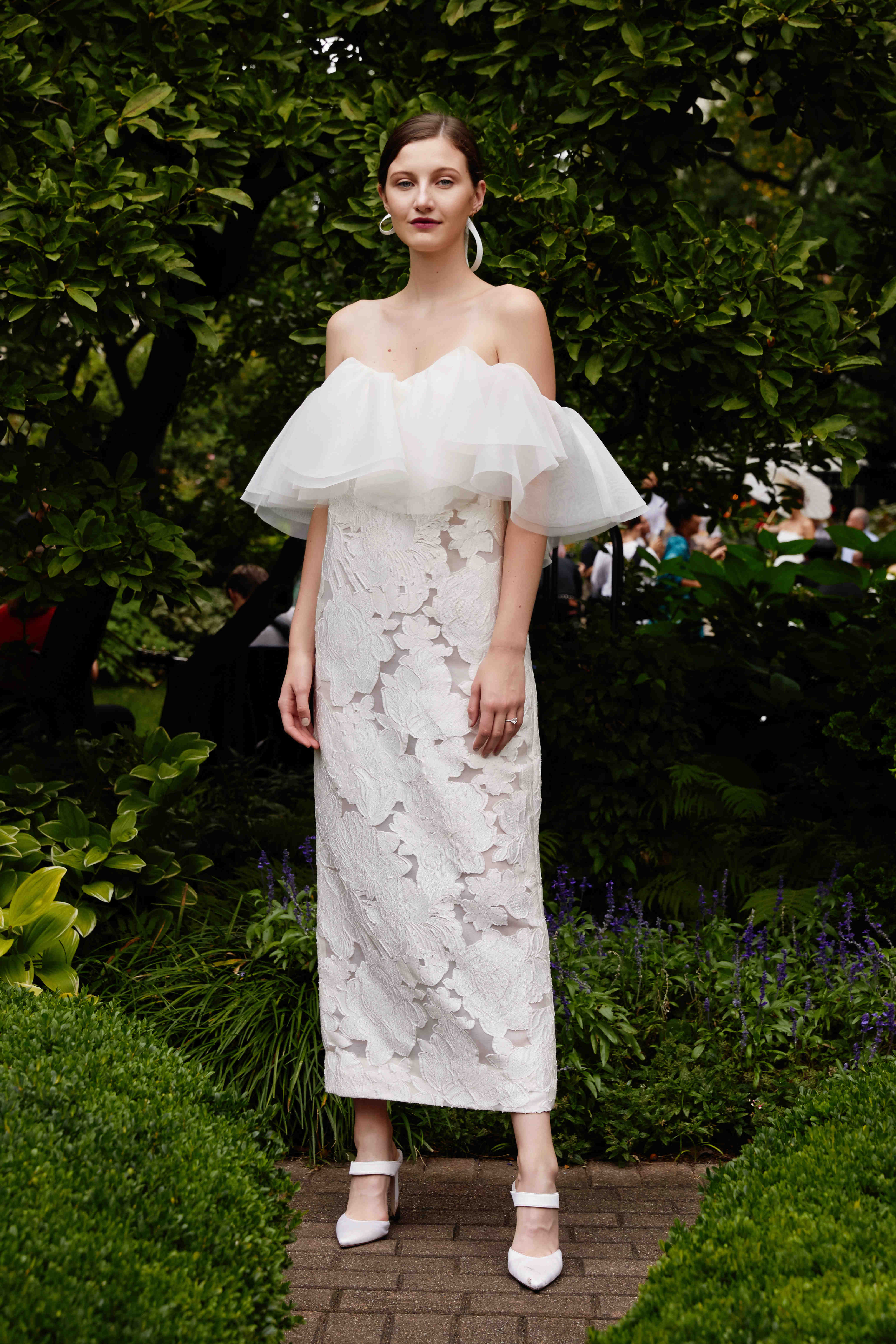 Lela Rose off the shoulder wedding dress with tulle fall 2019
