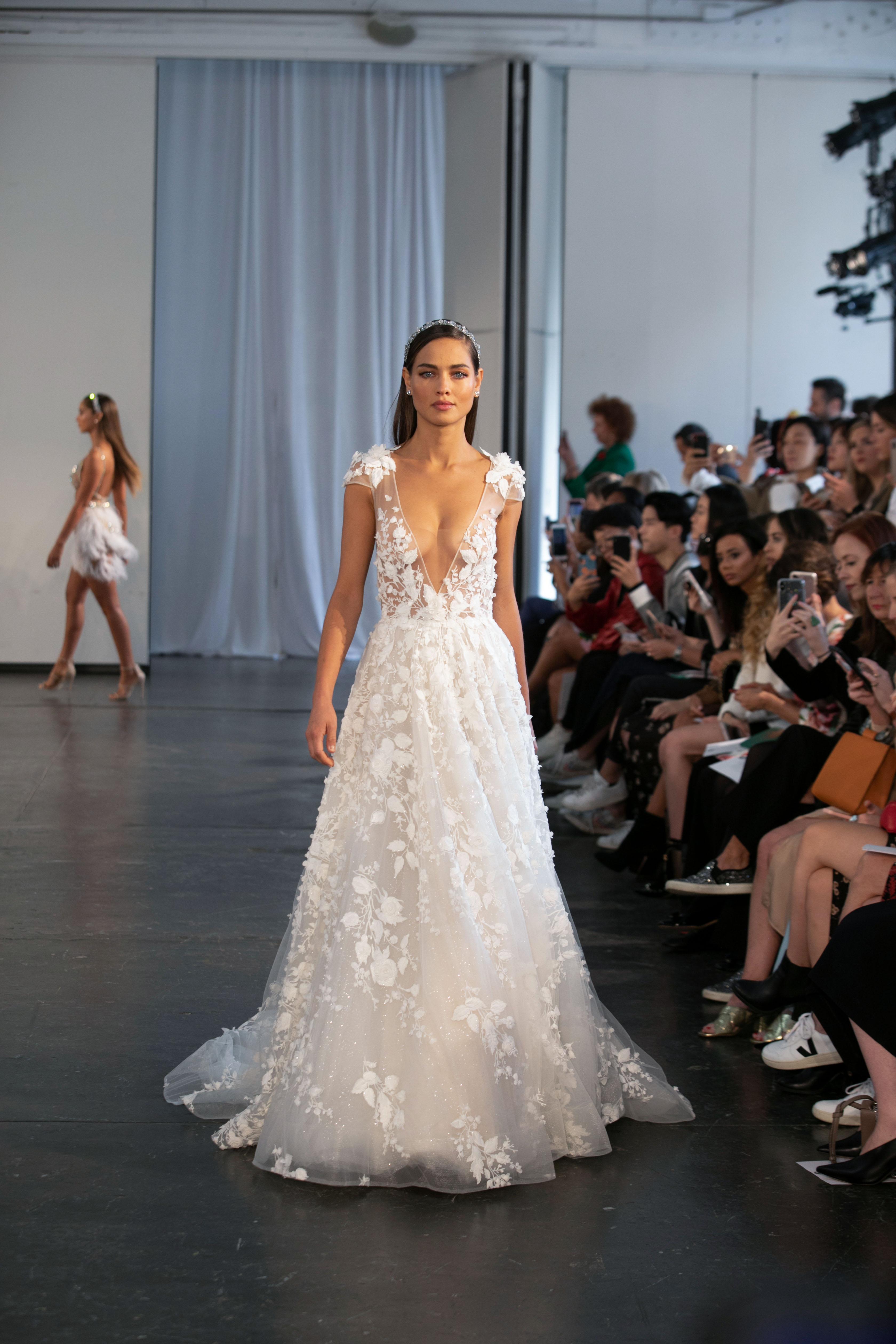 berta fall 2019 cap sleeve a-line wedding dress
