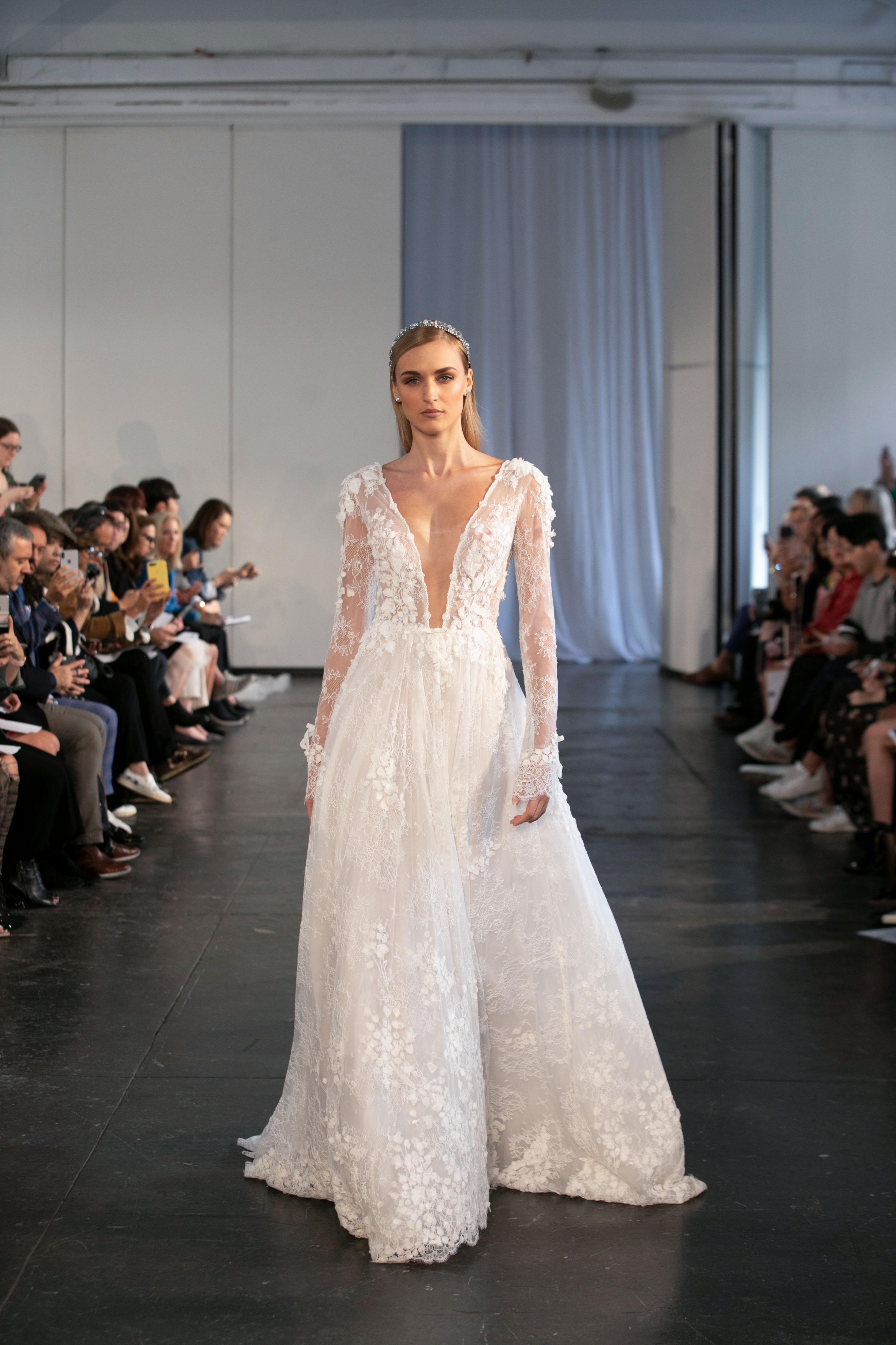 berta fall 2019 long sleeve a-line wedding dress
