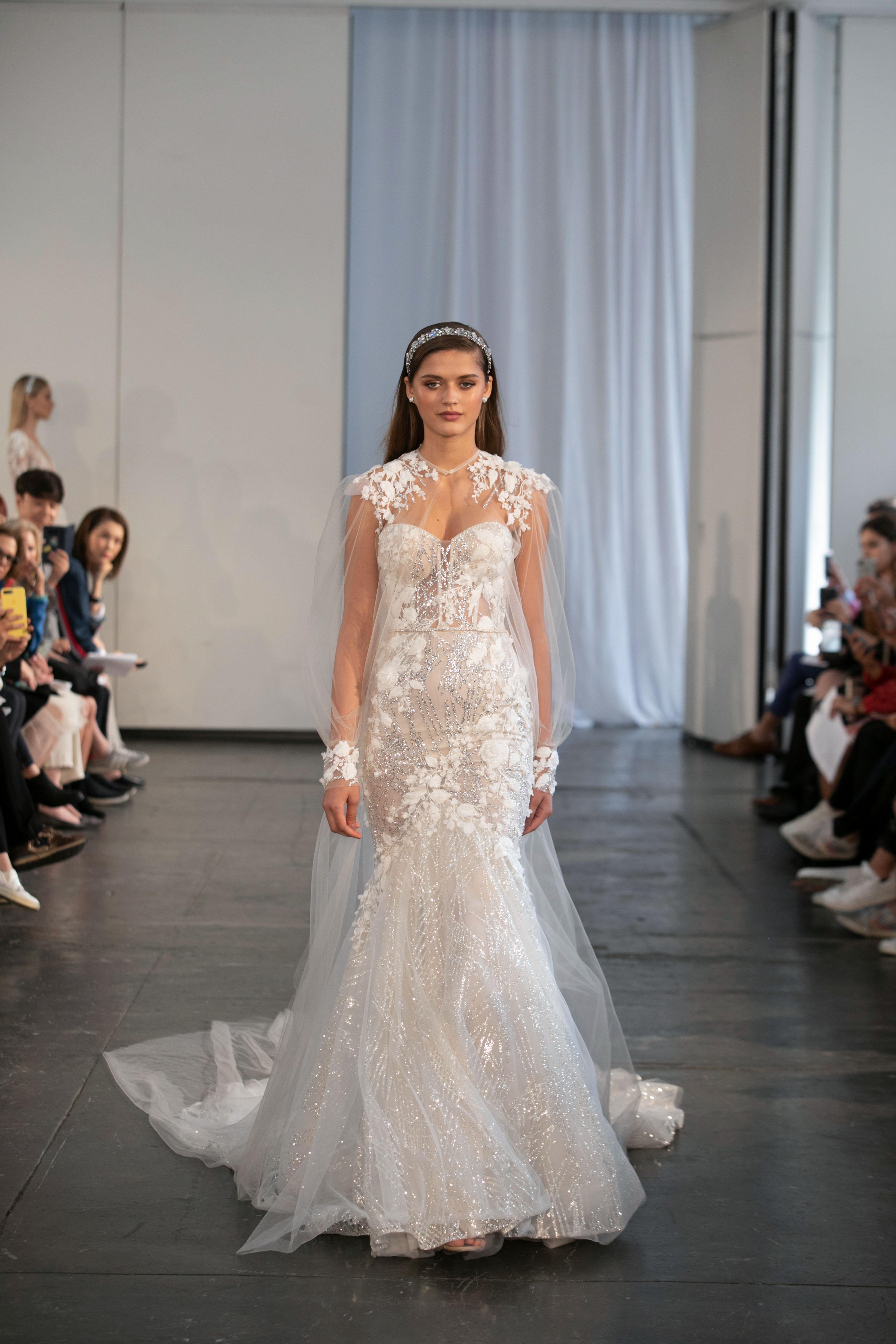 berta fall 2019 sheer mermaid wedding dress