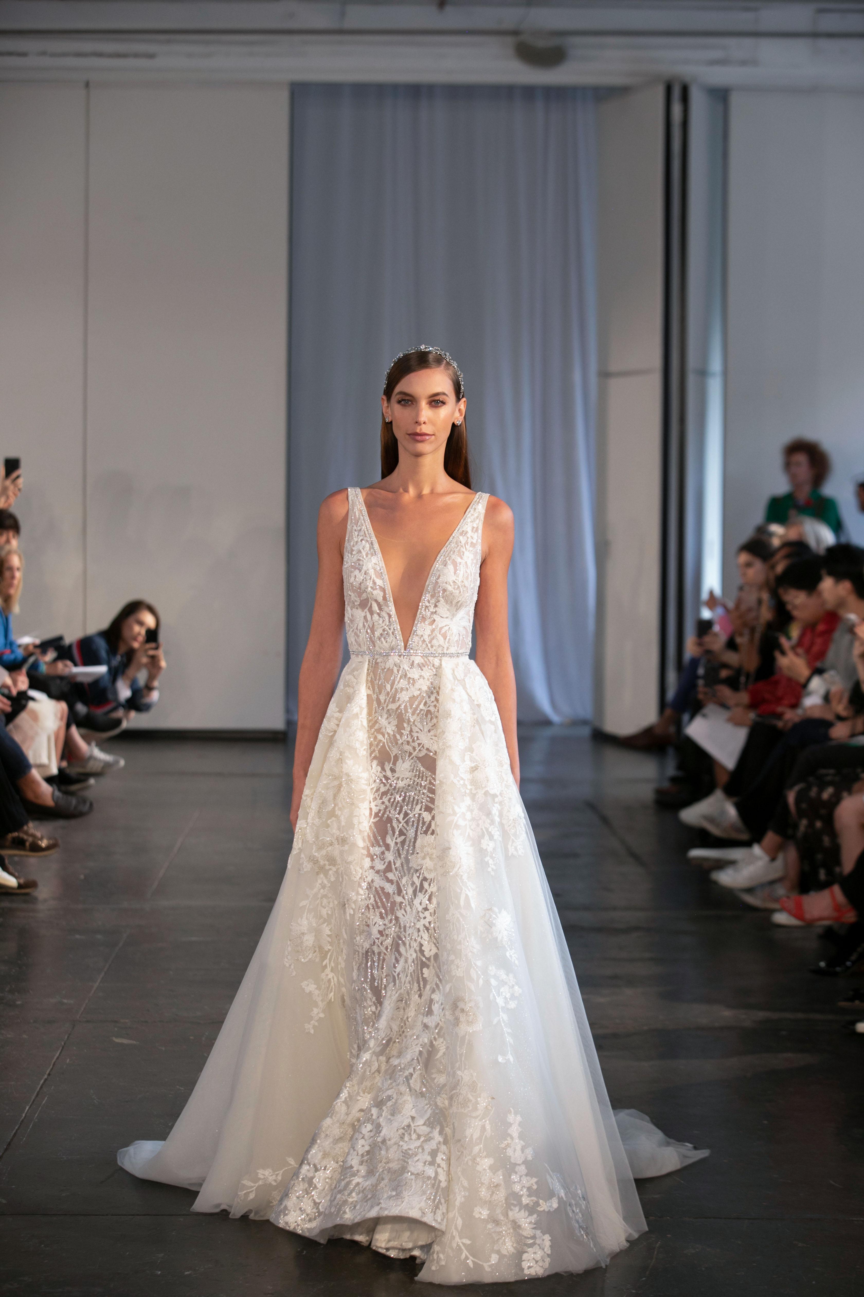 berta fall 2019 v-neck a-line wedding dress