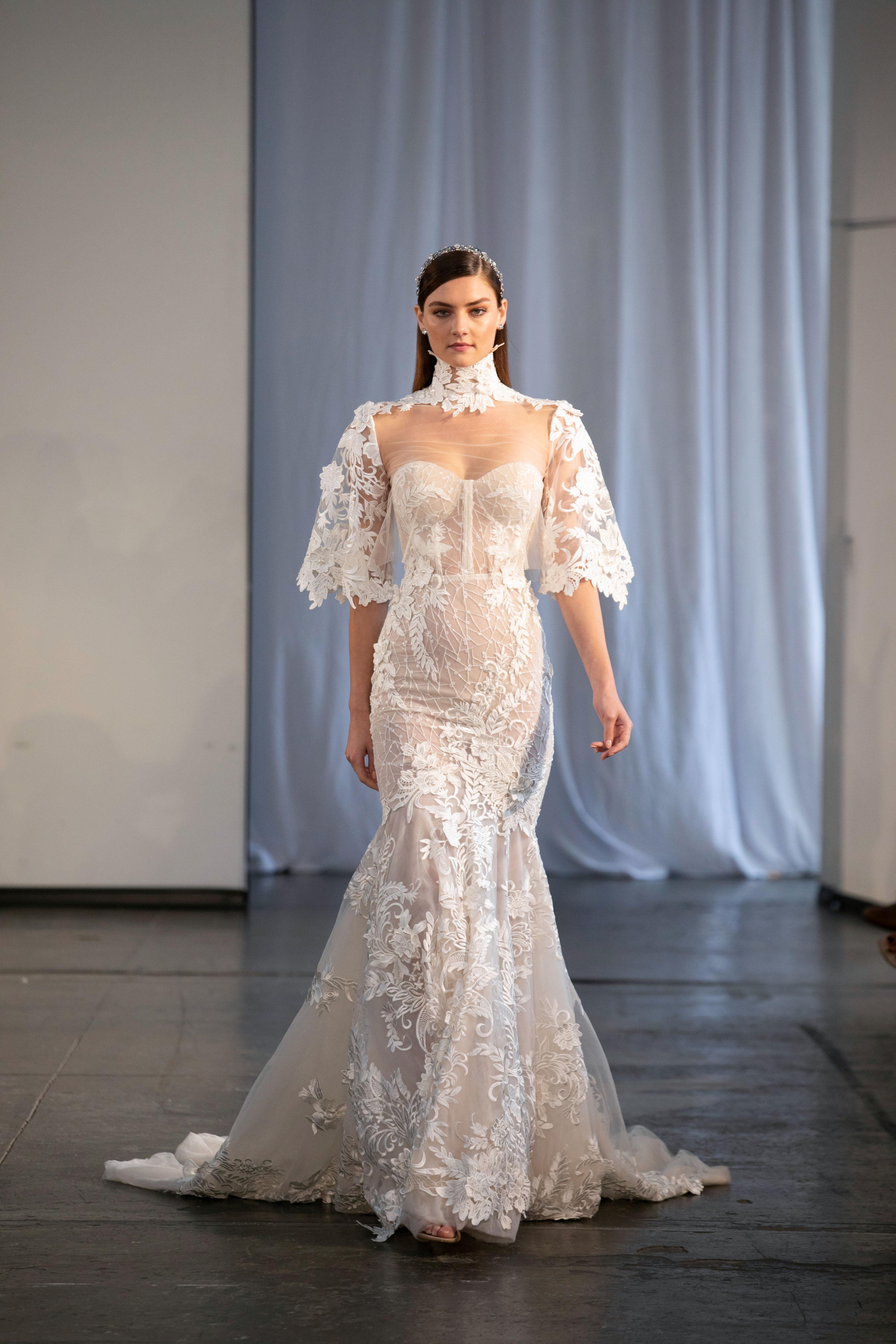 berta fall 2019 strapless sheer mermaid wedding dress