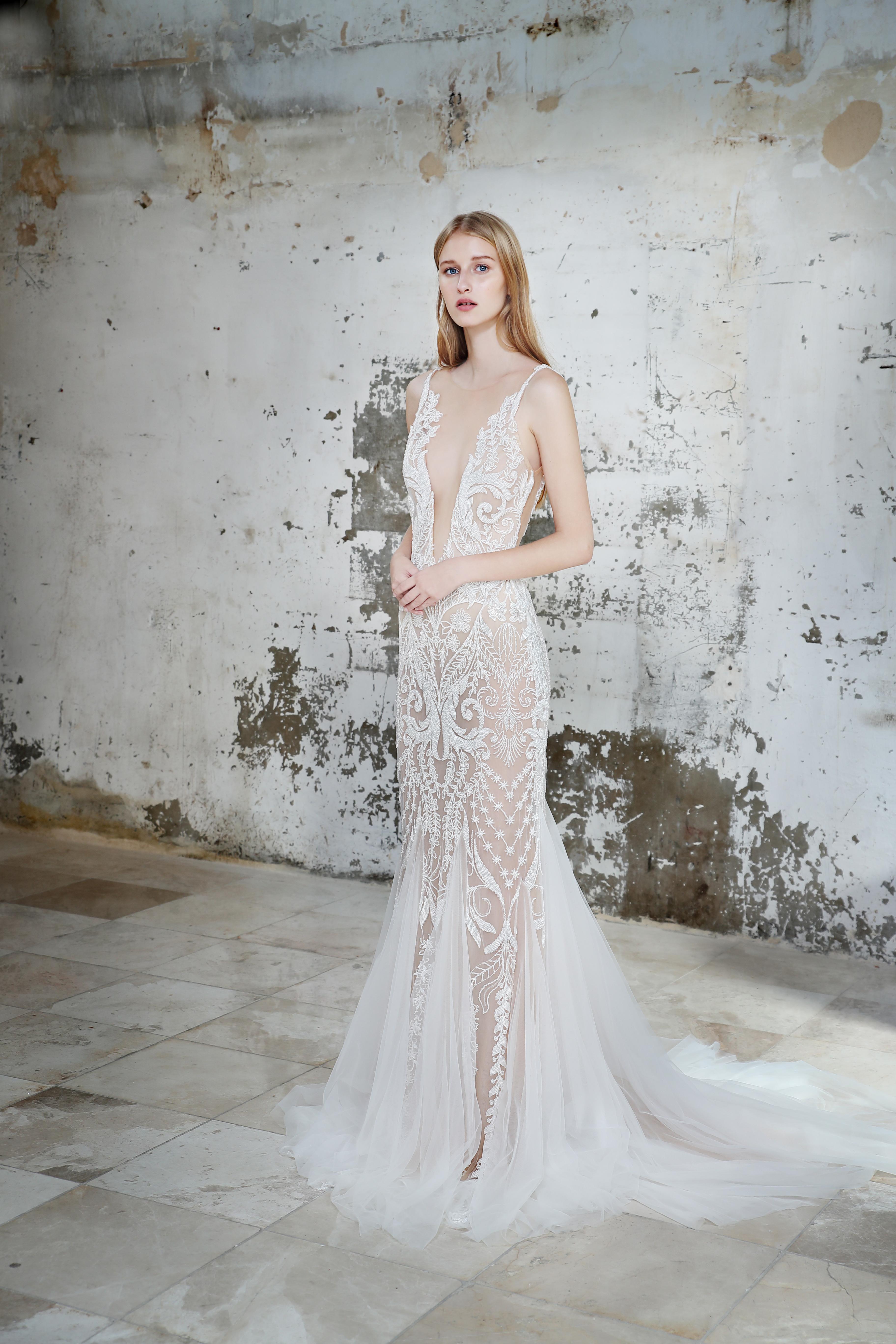 Gala by Galia Lahav sheer wedding dress fall 2019