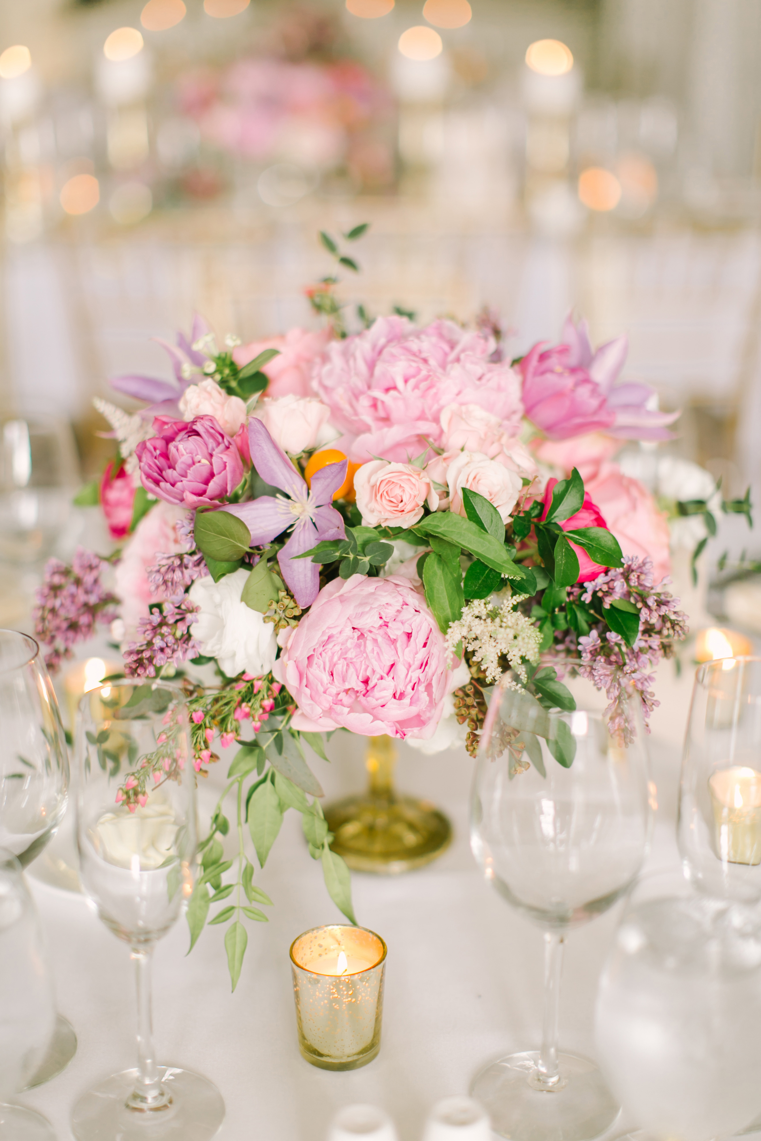 summer centerpieces love and light