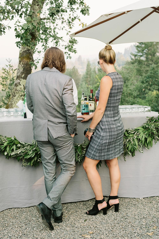 fall wedding guests attire classic gray
