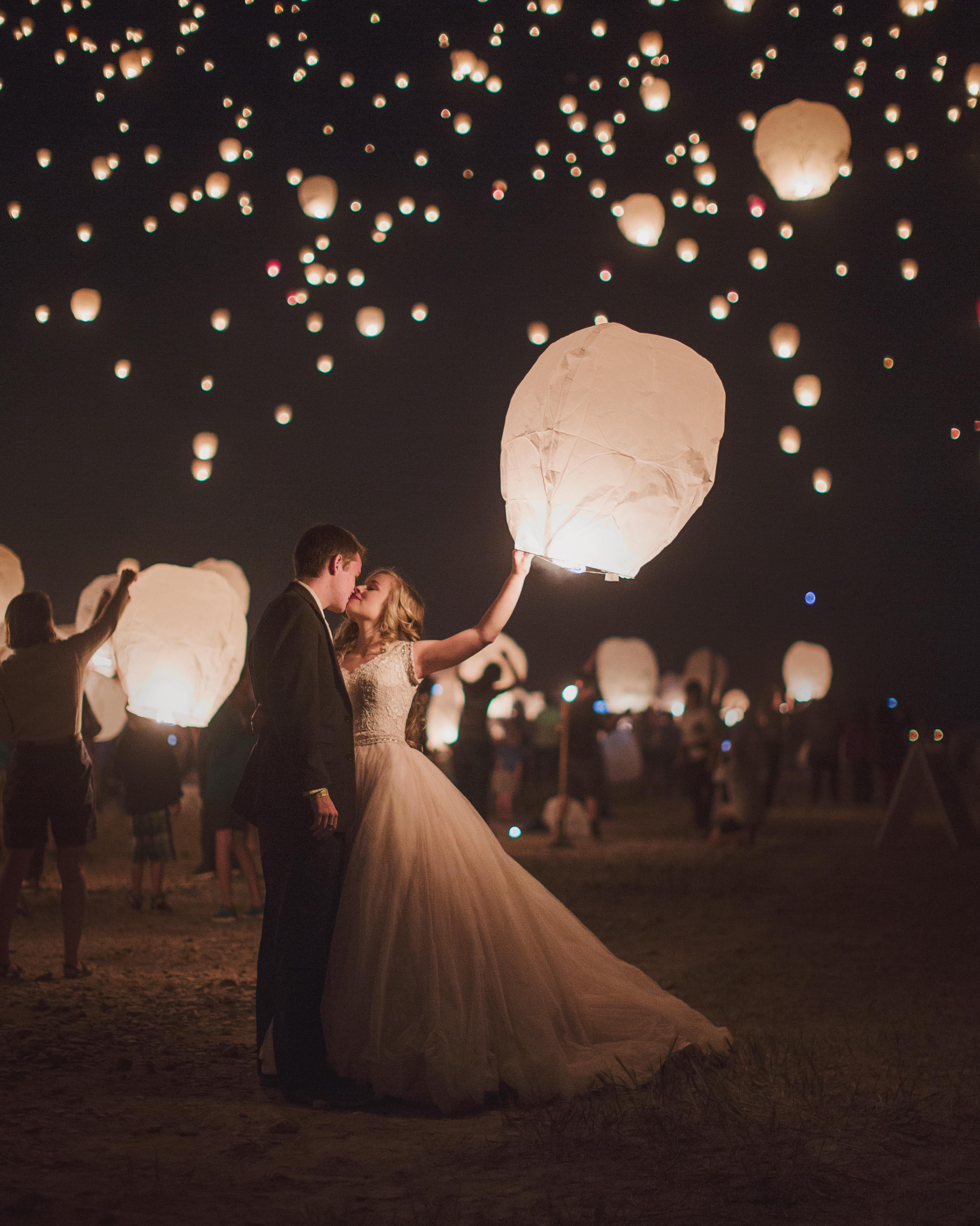 wedding exits lanterns