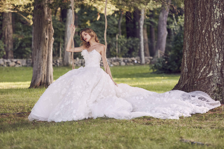 Marchesa sweetheart wedding dress fall 2019
