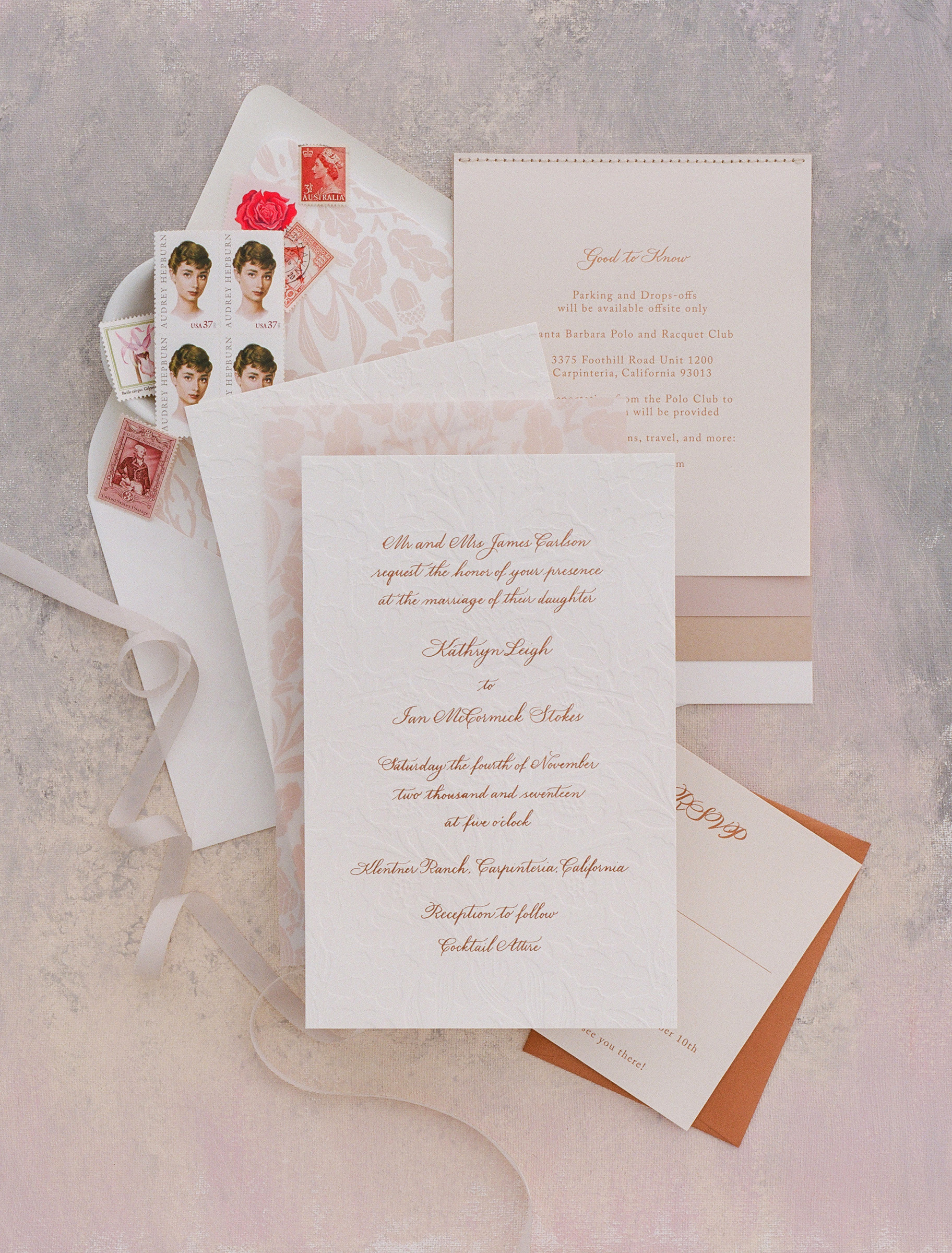 kathryn ian wedding invite