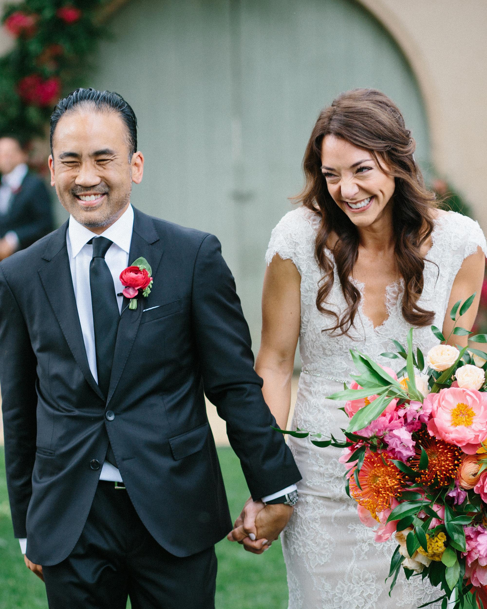 amy mark california wedding recessional