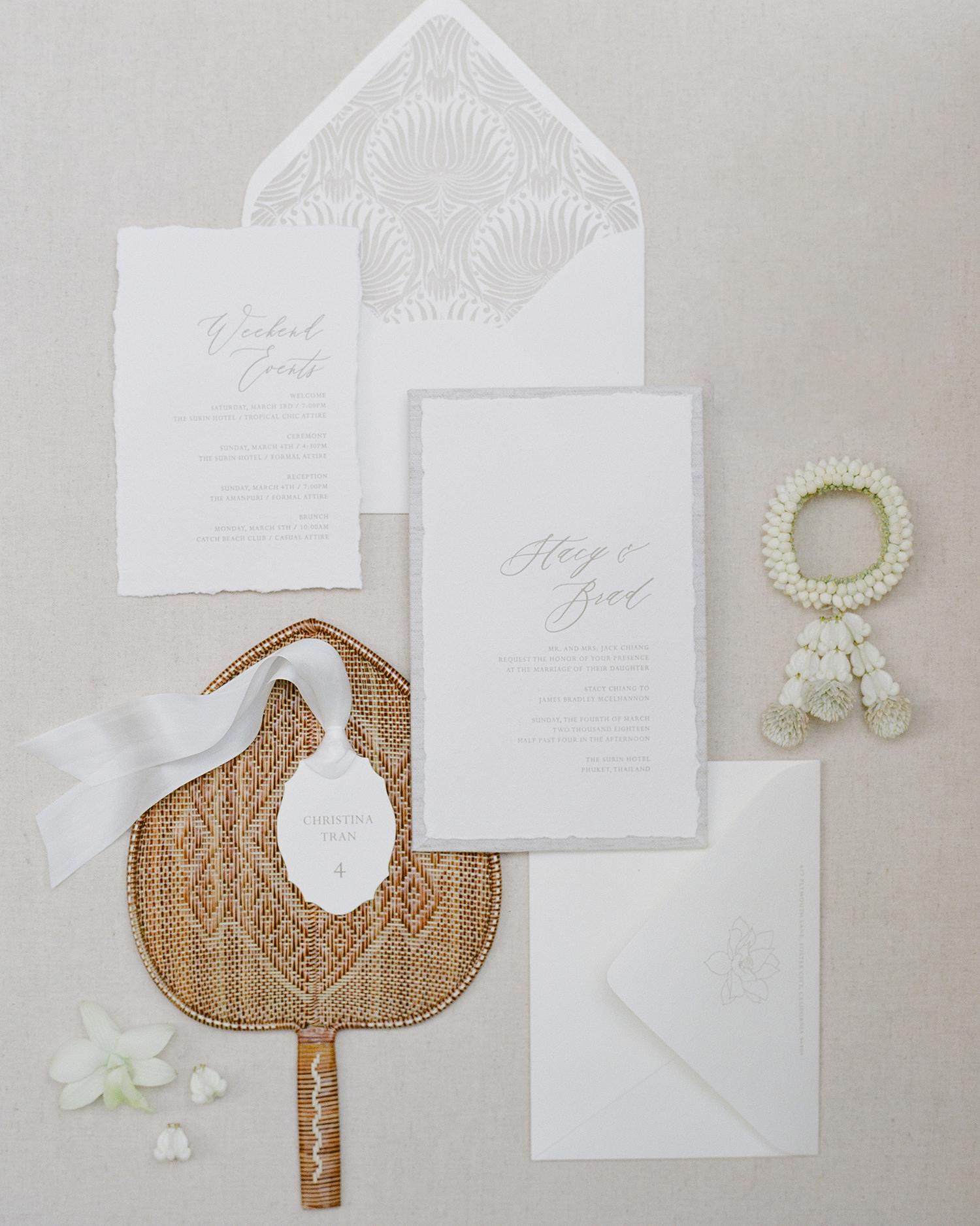 stacy brad wedding thailand invitation suite