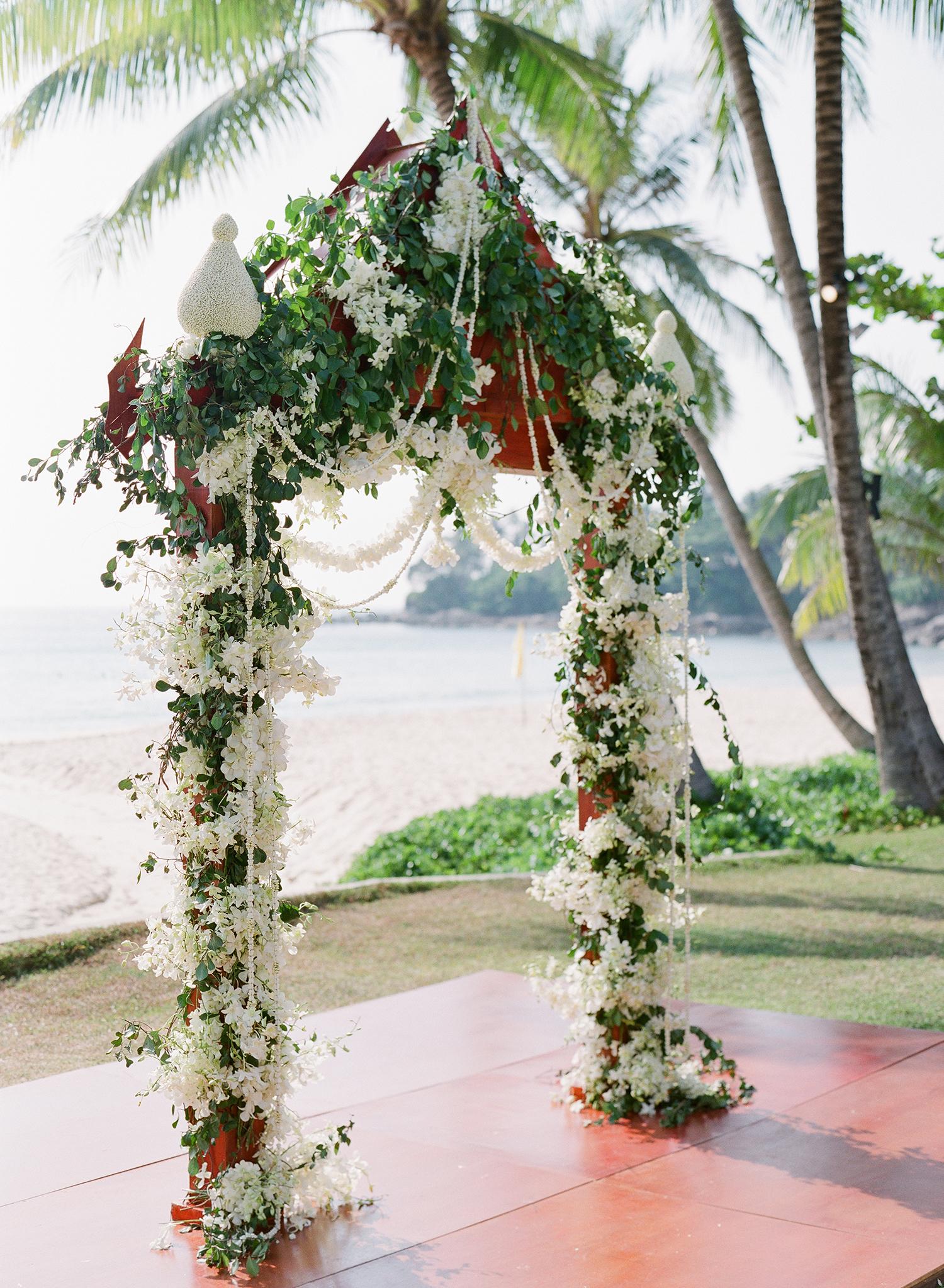 stacy brad wedding ceremony arch