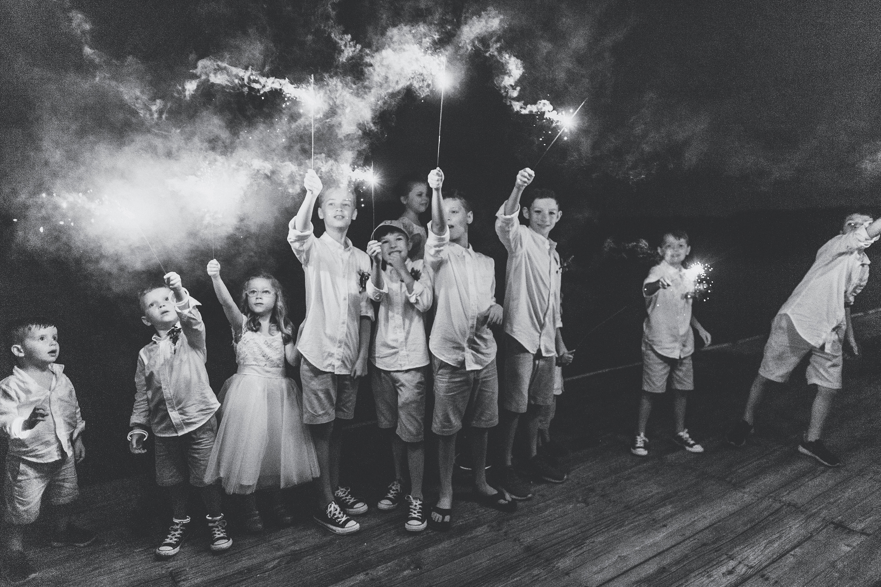 kids entertainment ideas sparklers black and white