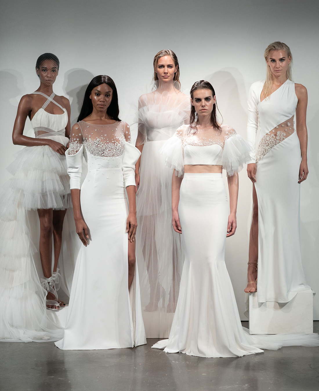 rime arodaky fall 2019 five models in dresses from collection