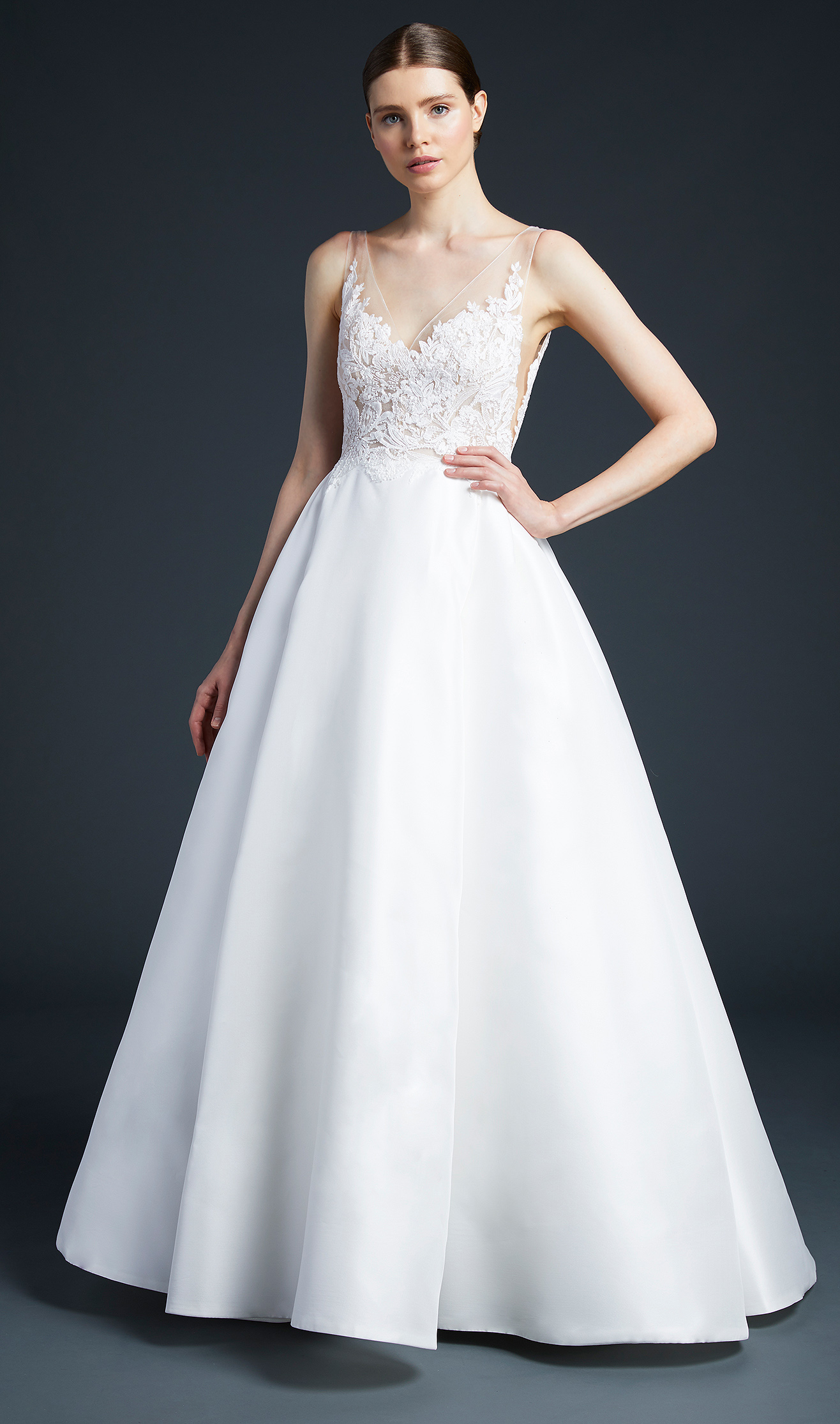 anne barge sweetheart ball gown wedding dress fall 2019