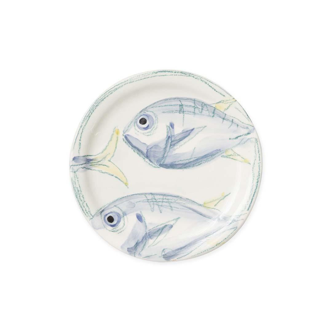 fish design salad plate
