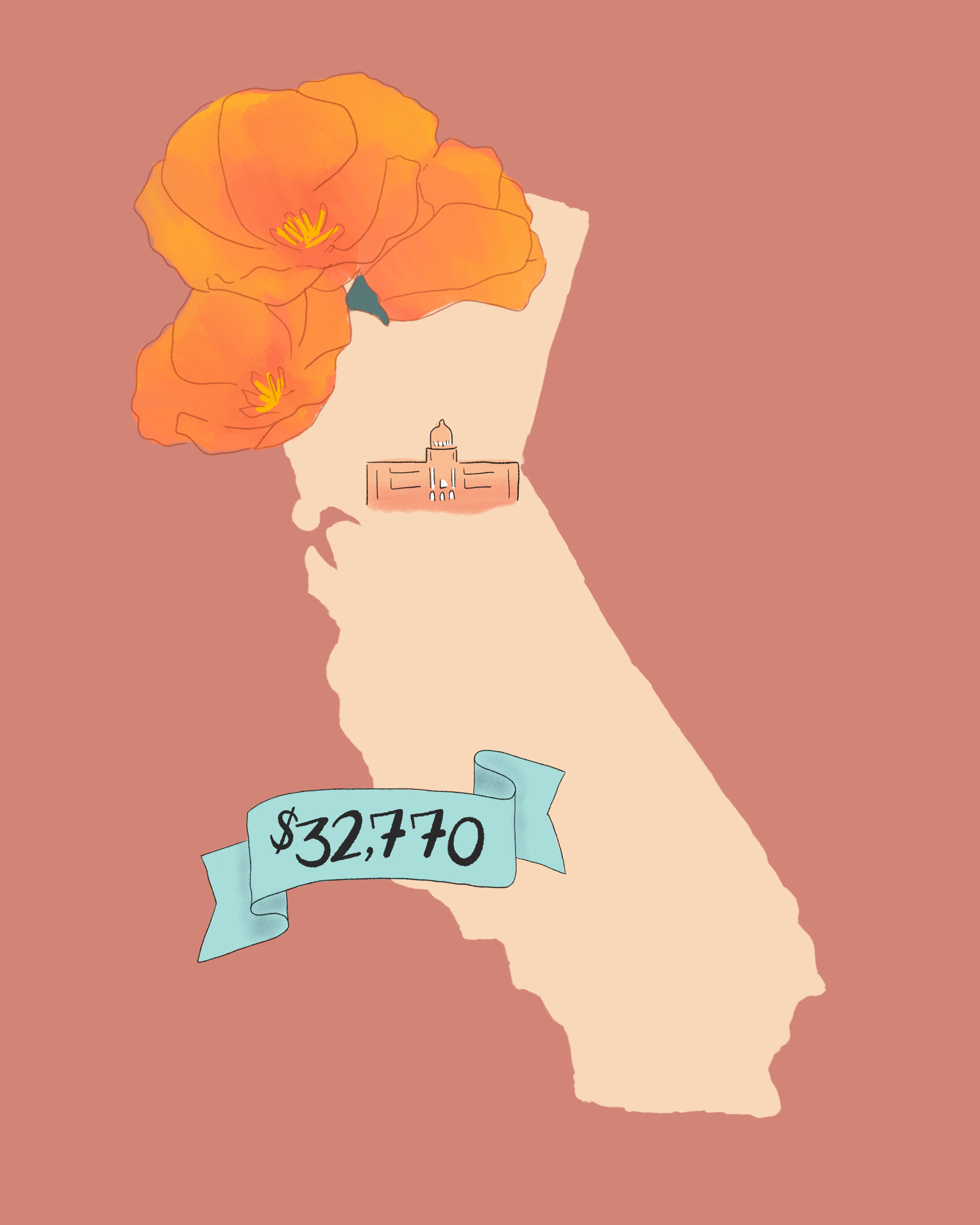 state wedding costs illustration california