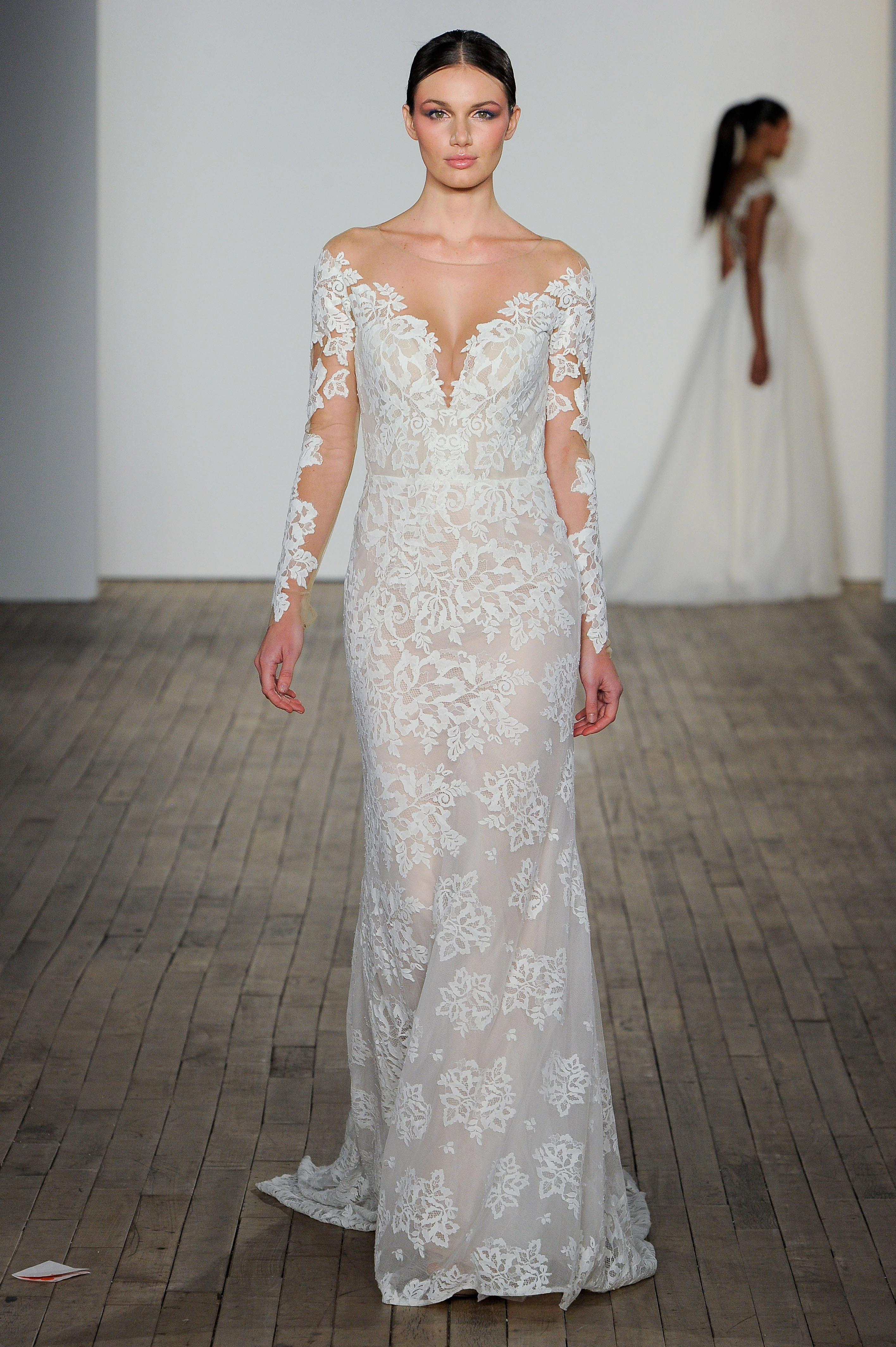 blush by hayley paige fall 2019 sheath floral applique wedding dress
