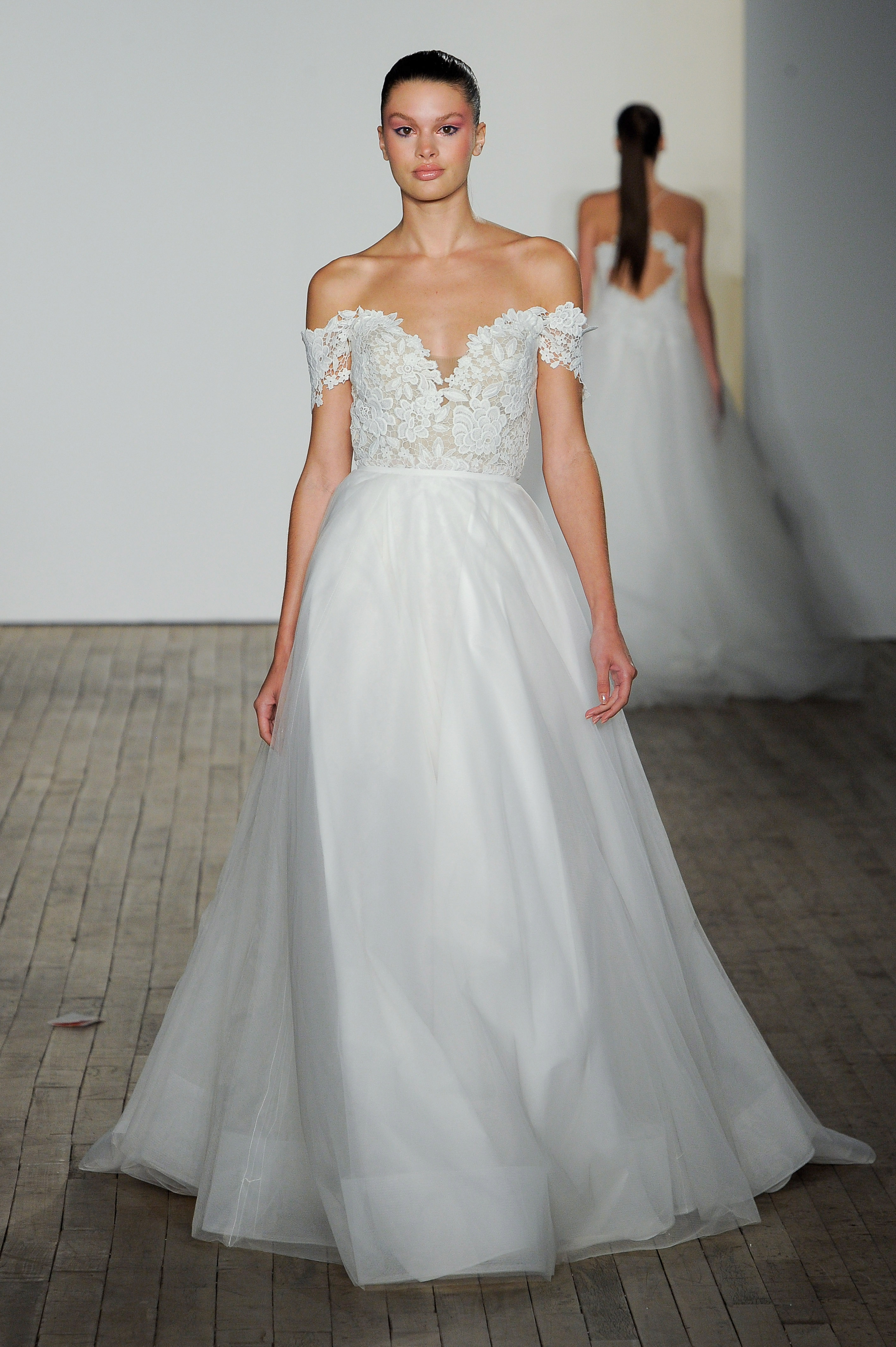 blush by hayley paige fall 2019 off the shoulder ball gown wedding dress