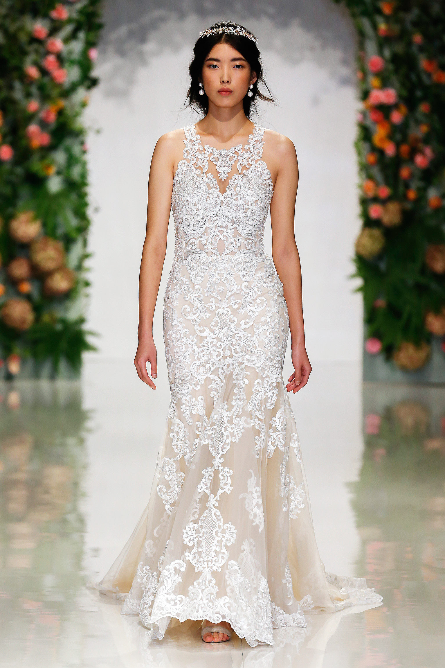 morilee madeline gardner fall 2019 lace high neck sheath