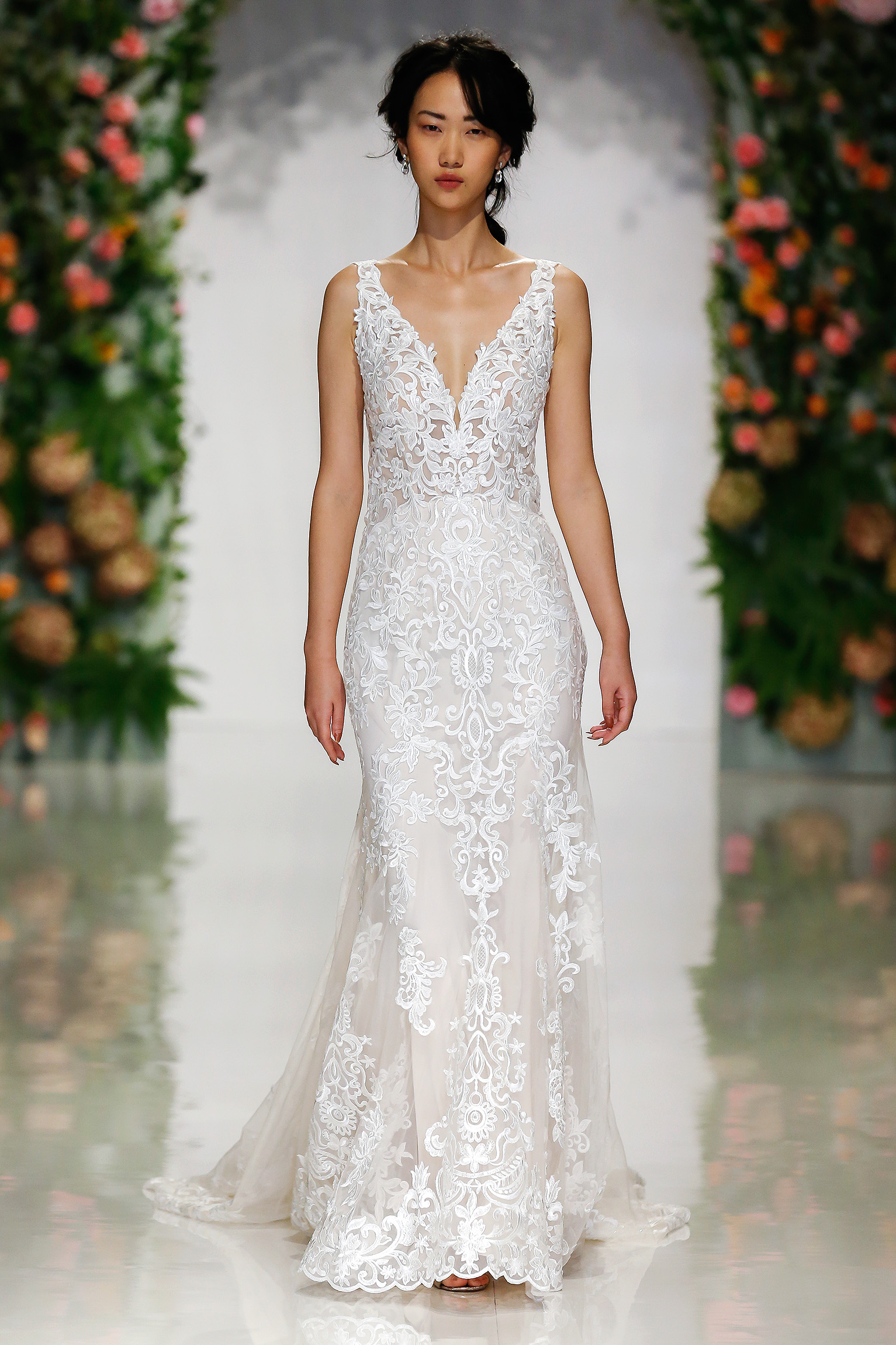 morilee madeline gardner fall 2019 v-neck lace sheath
