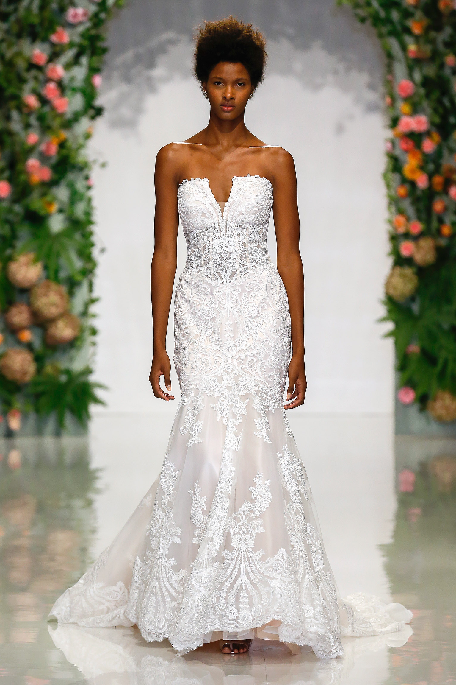 morilee madeline gardner fall 2019 strapless mermaid lace wedding dress
