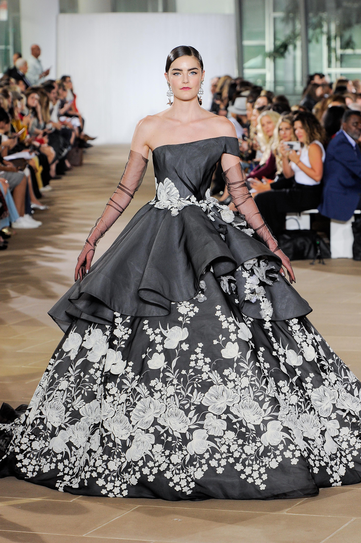 Naeem Khan embellished black wedding dress