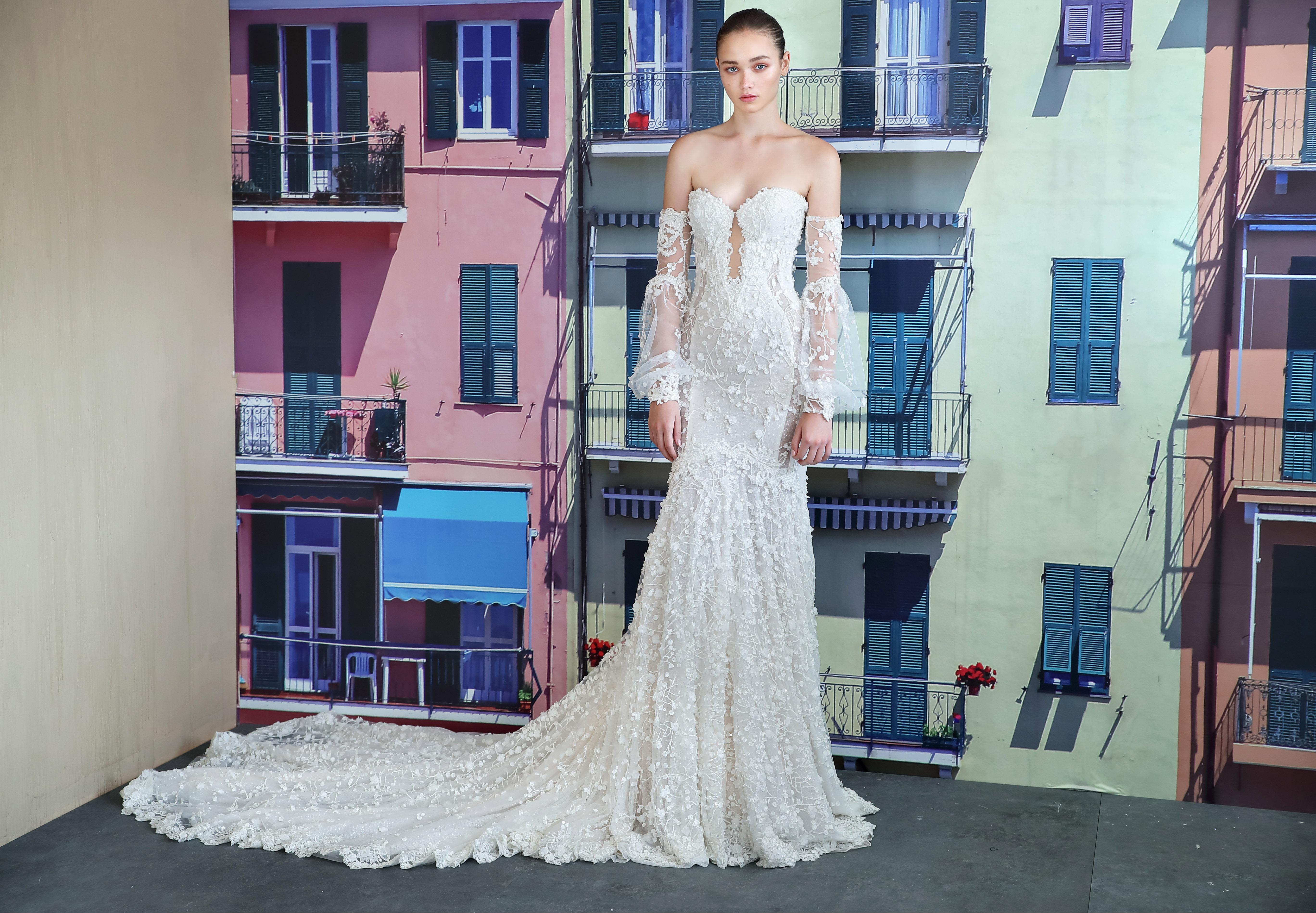 galia lahav off the shoulder sweetheart wedding dress fall 2019