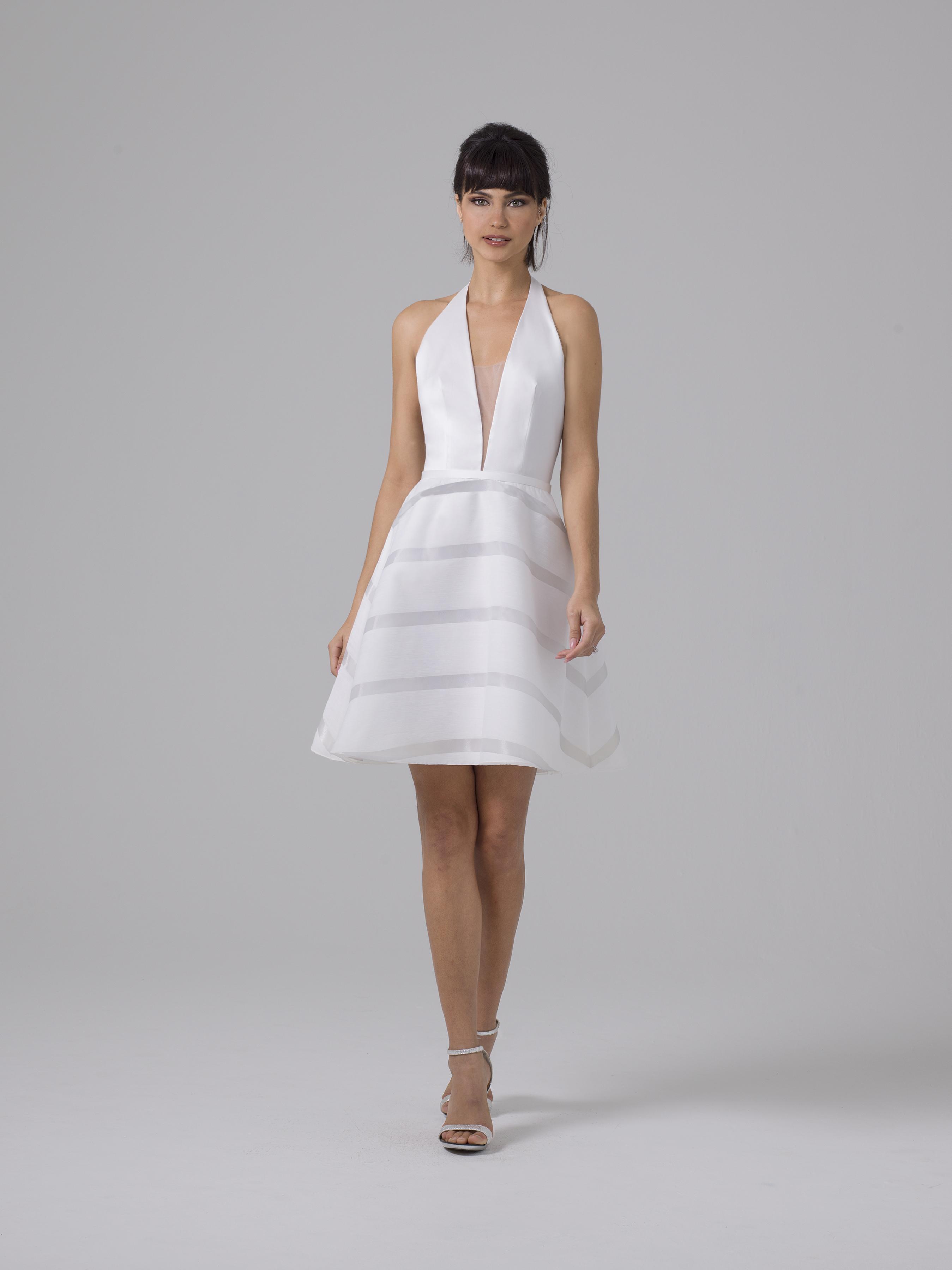 Liancarlo short a-line wedding dress fall 2019