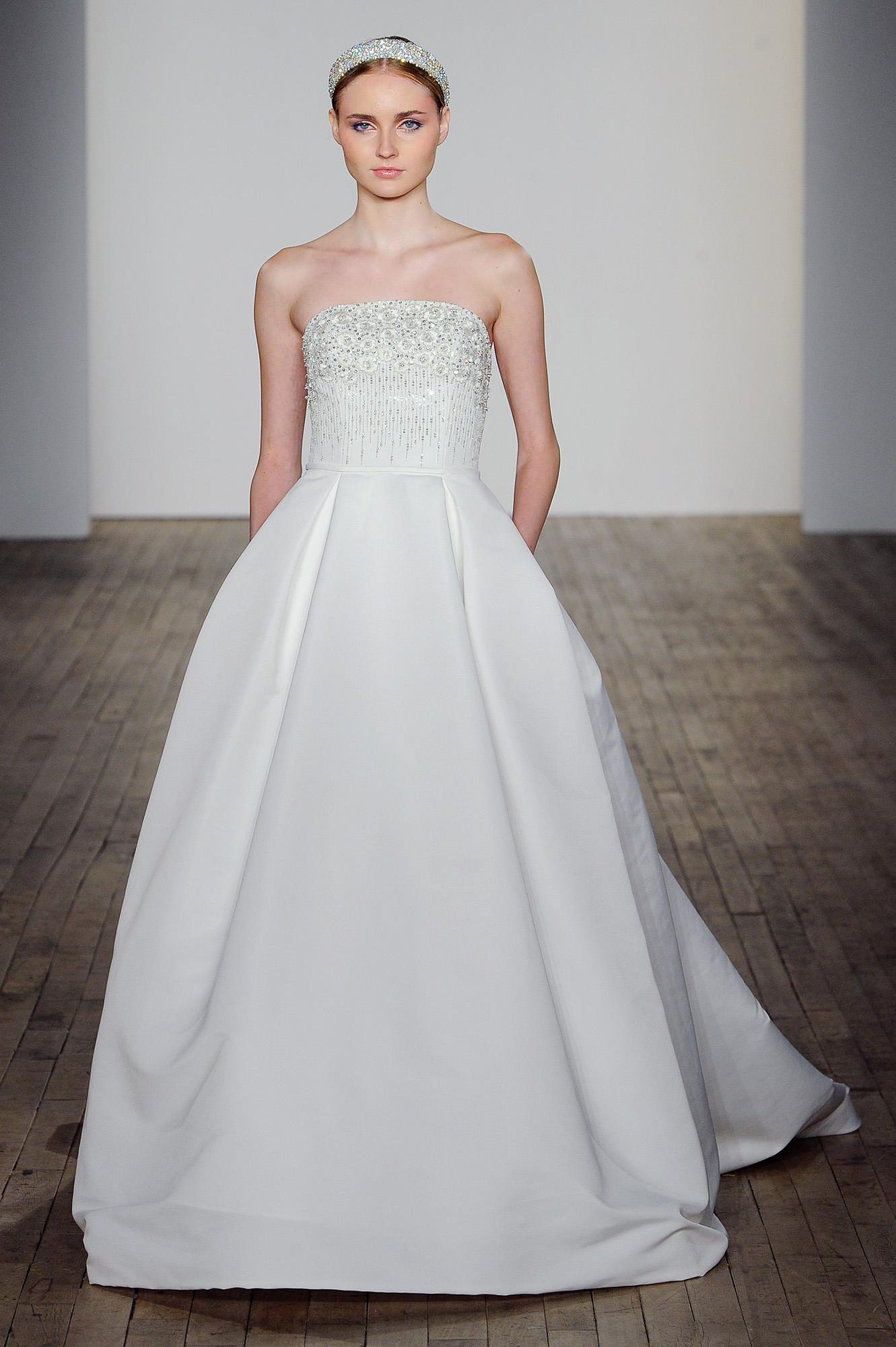 allison webb wedding dress embellished bodice strapless ball gown