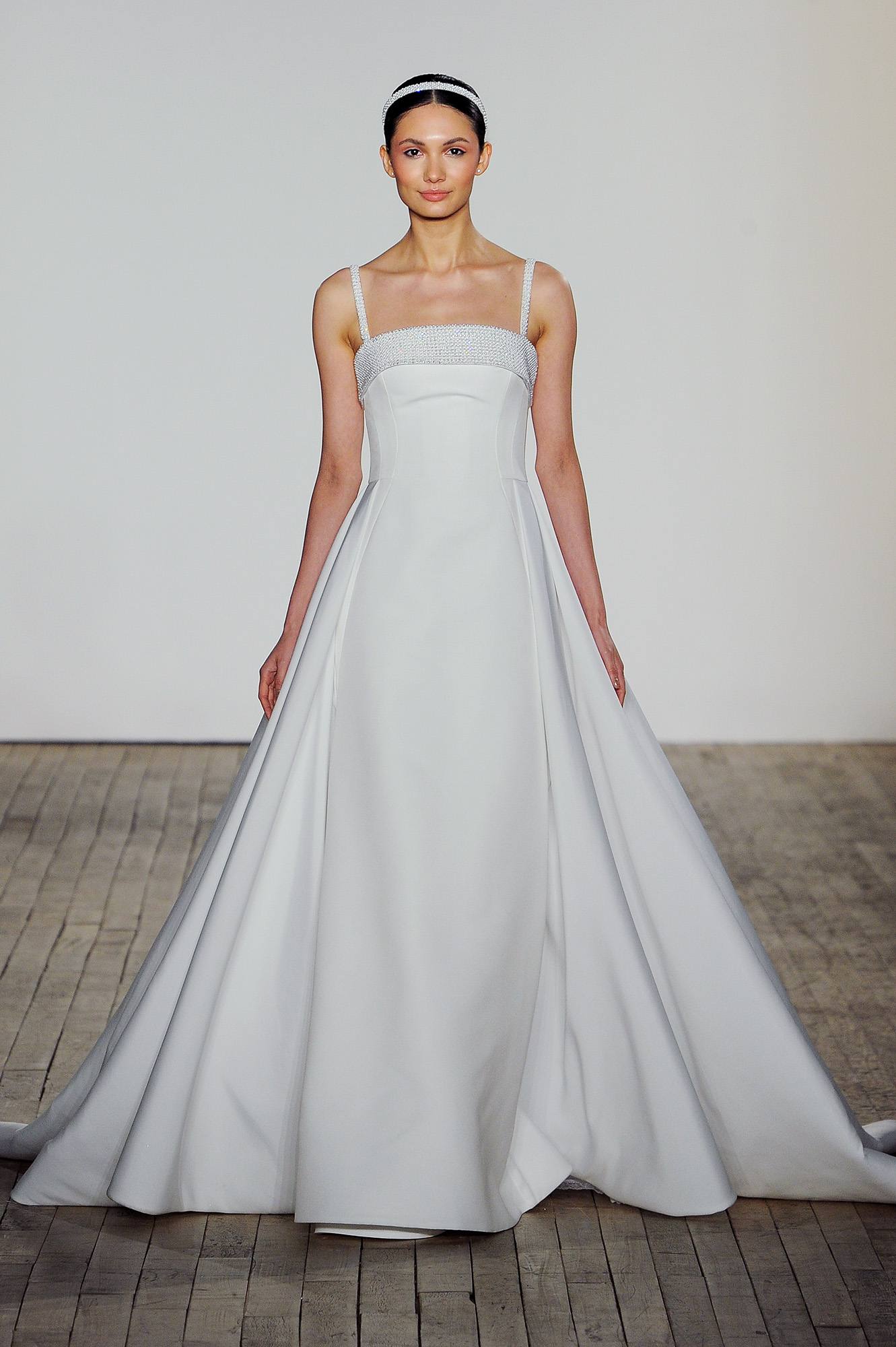 allison webb wedding dress beaded spaghetti straps satin a-line