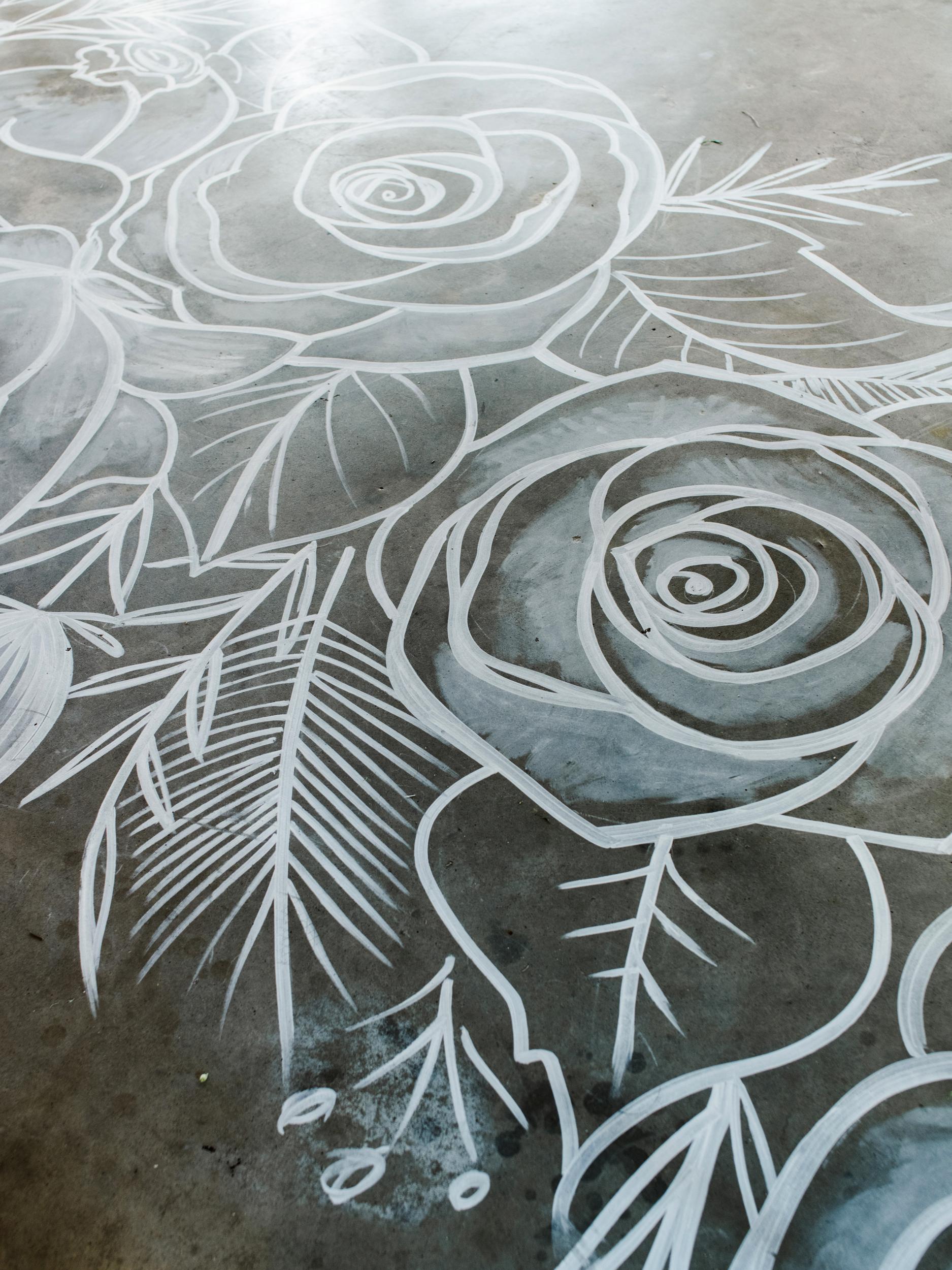 suzanne joseph wedding painted floor corbin gurkin