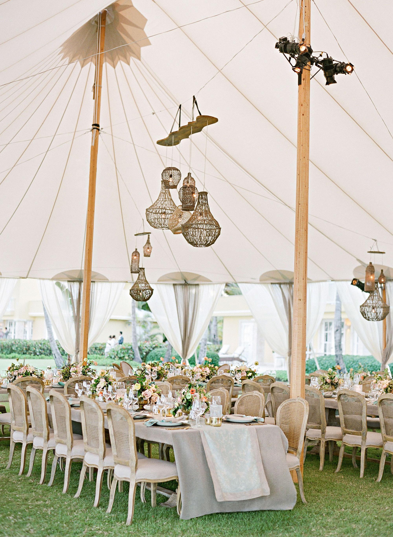 elizabeth sohale wedding dominican republic tent tables