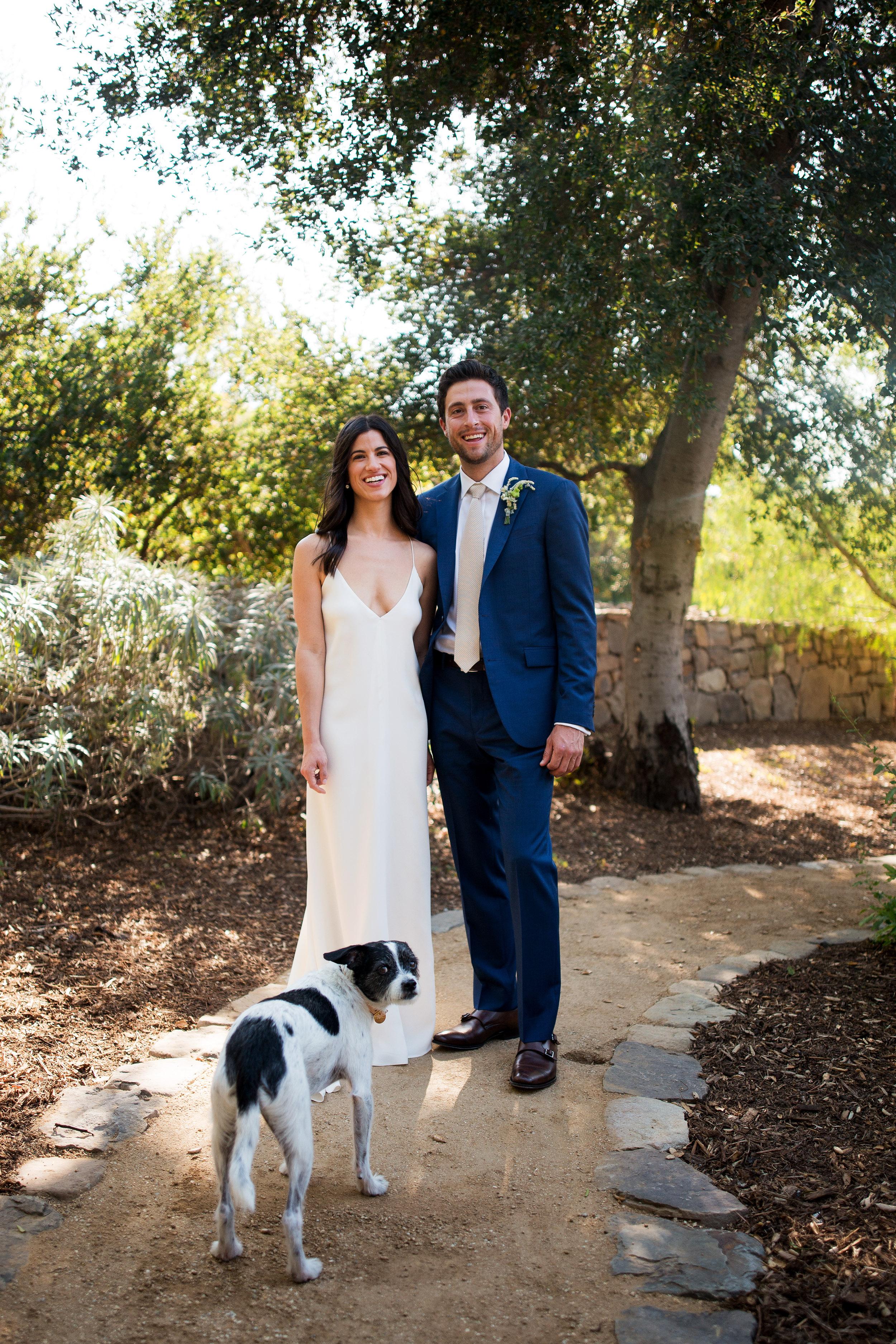 anika max wedding couple with dog