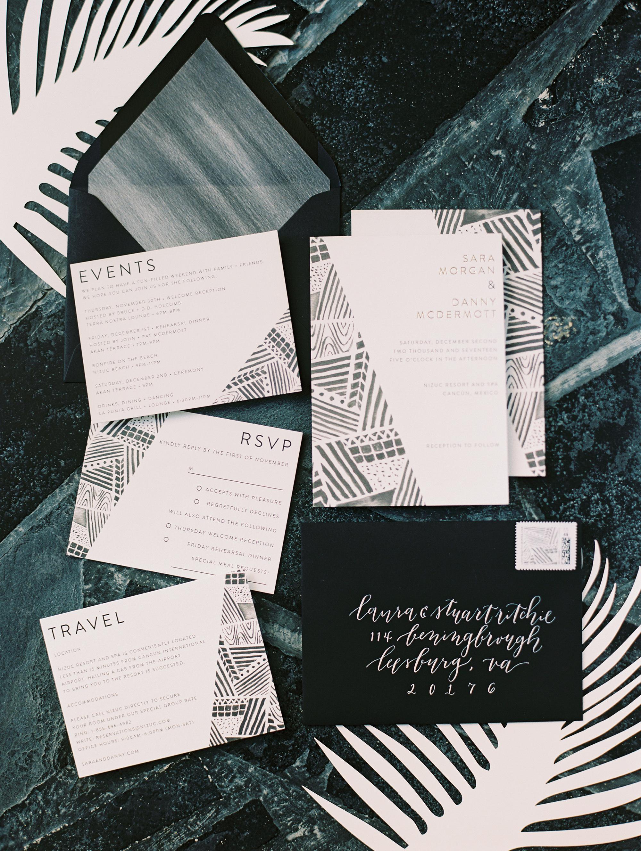 sara danny mexico wedding invitation suite