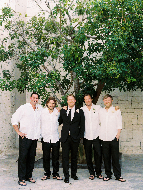 sara danny mexico wedding groomsmen